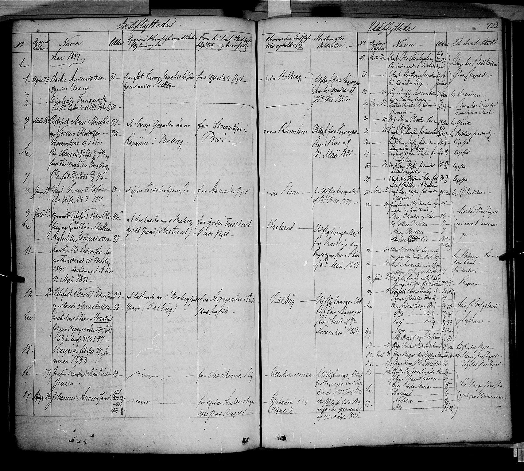 SAH, Fåberg prestekontor, Ministerialbok nr. 5, 1836-1854, s. 721-722