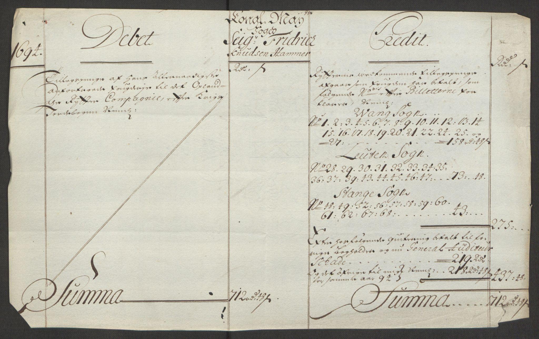 RA, Rentekammeret inntil 1814, Reviderte regnskaper, Fogderegnskap, R16/L1035: Fogderegnskap Hedmark, 1694, s. 128