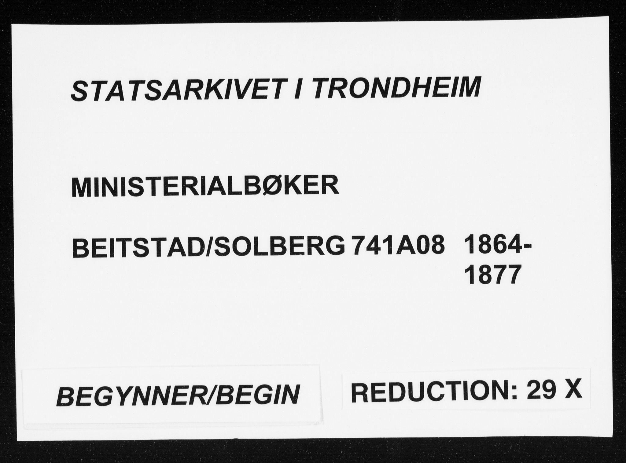 SAT, Ministerialprotokoller, klokkerbøker og fødselsregistre - Nord-Trøndelag, 741/L0394: Ministerialbok nr. 741A08, 1864-1877