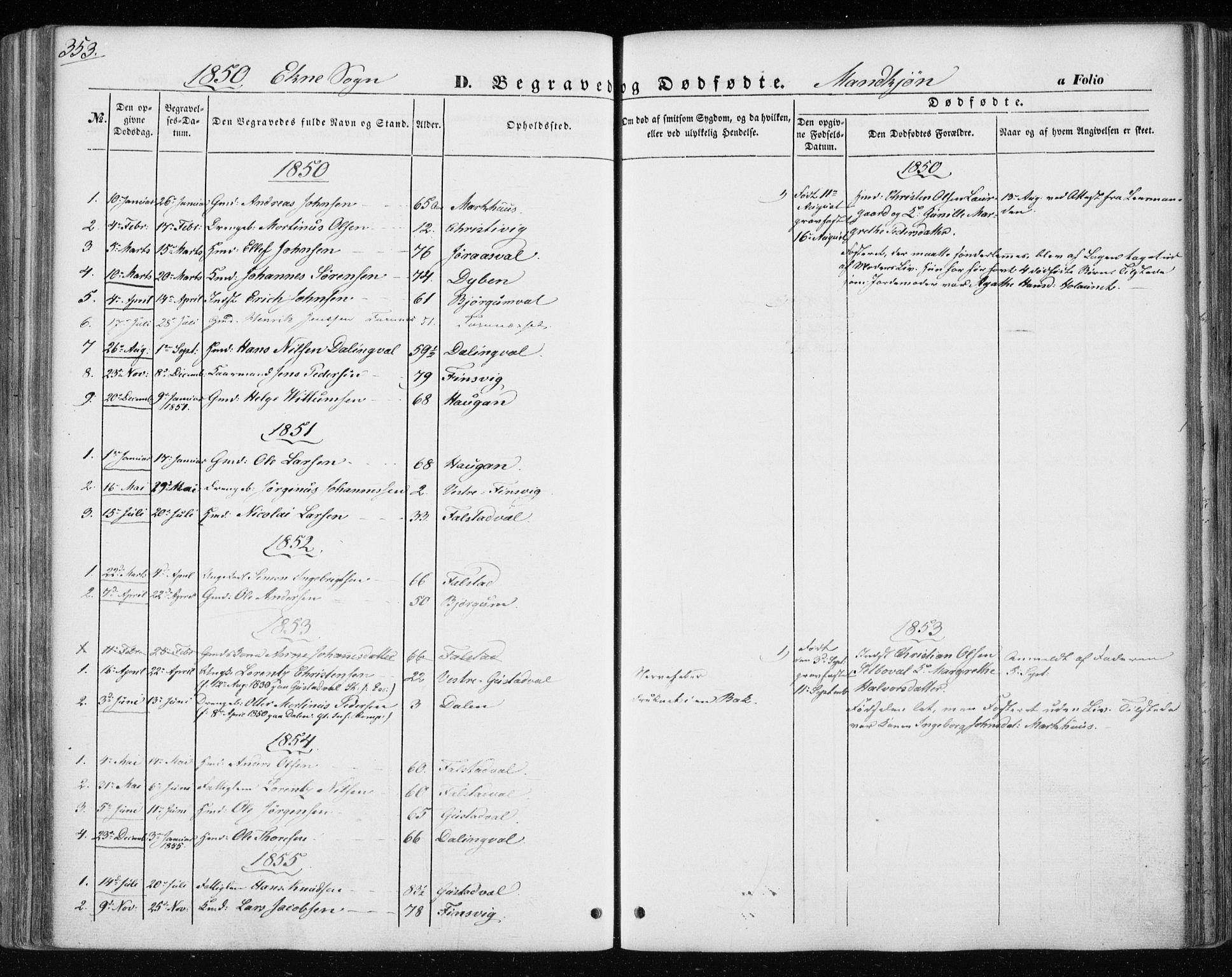 SAT, Ministerialprotokoller, klokkerbøker og fødselsregistre - Nord-Trøndelag, 717/L0154: Ministerialbok nr. 717A07 /3, 1850-1862, s. 353