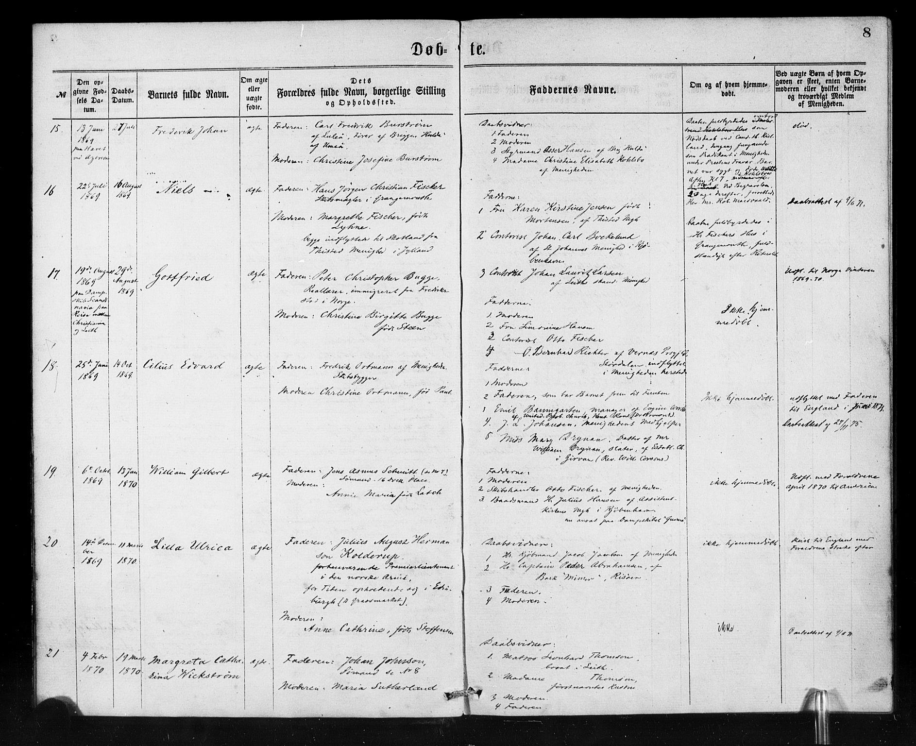 SAB, Den Norske Sjømannsmisjon i utlandet*, Ministerialbok nr. A 1, 1865-1880, s. 8