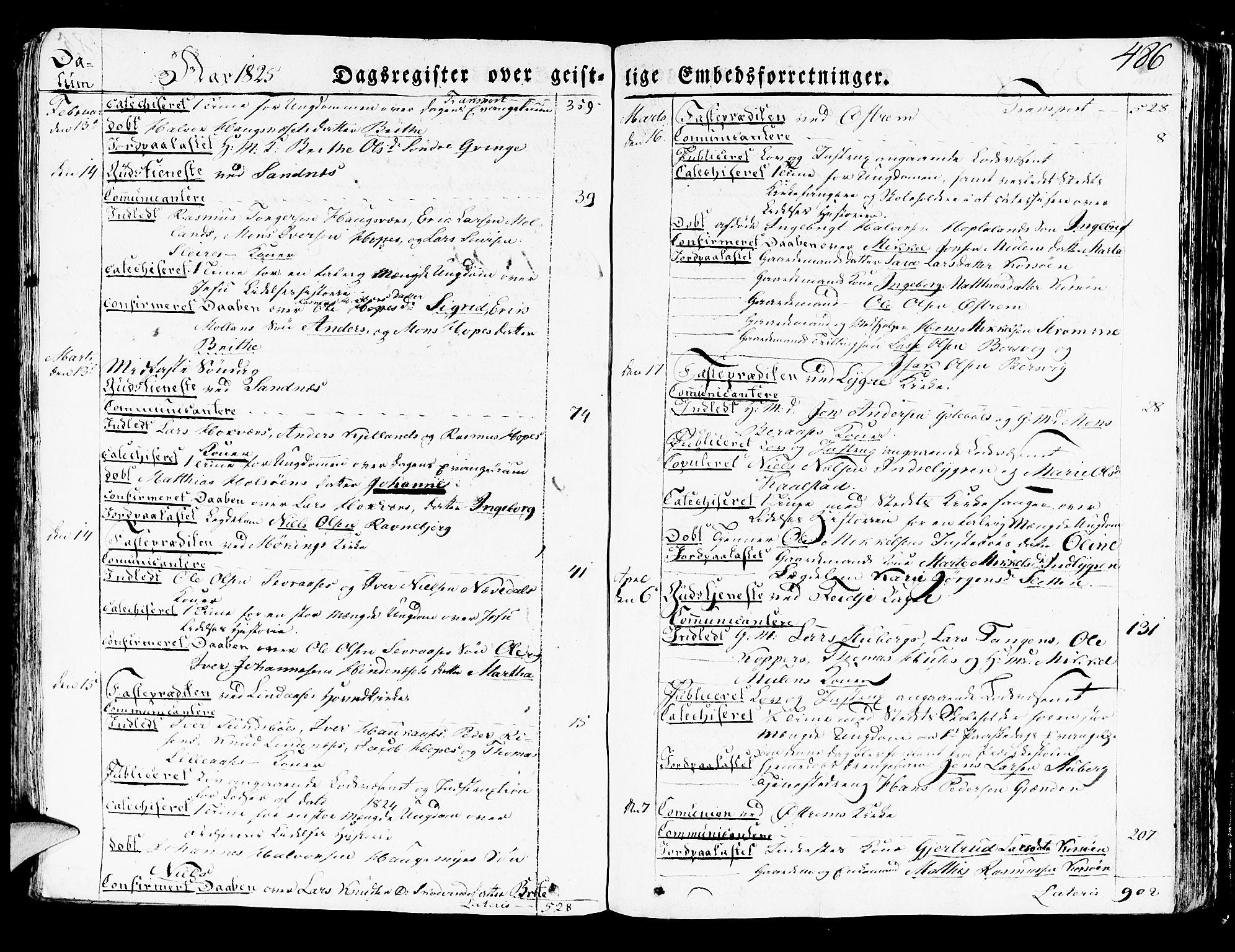 SAB, Lindås Sokneprestembete, H/Haa: Ministerialbok nr. A 8, 1823-1836, s. 486