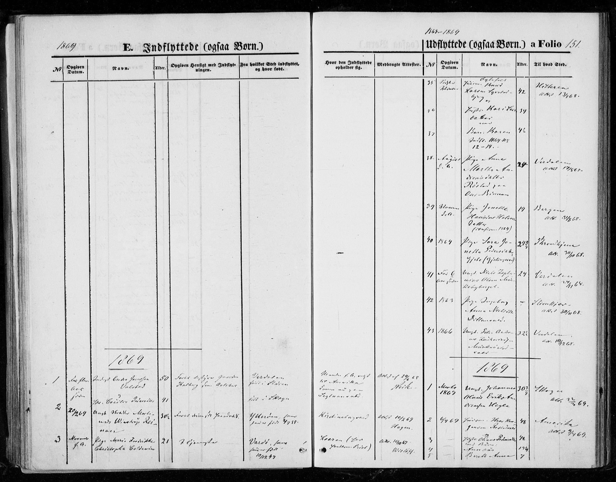 SAT, Ministerialprotokoller, klokkerbøker og fødselsregistre - Nord-Trøndelag, 721/L0206: Ministerialbok nr. 721A01, 1864-1874, s. 151