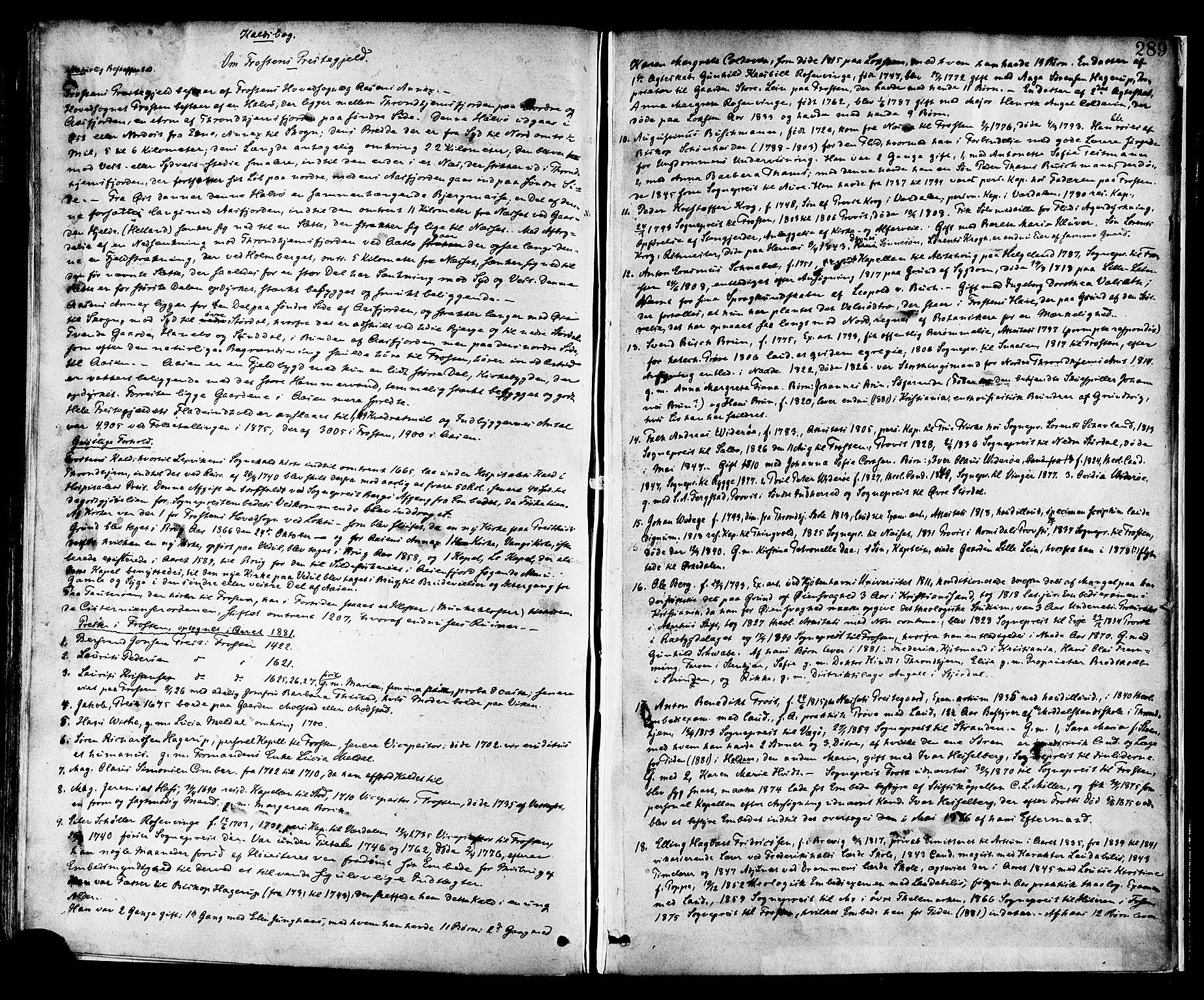 SAT, Ministerialprotokoller, klokkerbøker og fødselsregistre - Nord-Trøndelag, 713/L0120: Ministerialbok nr. 713A09, 1878-1887, s. 289