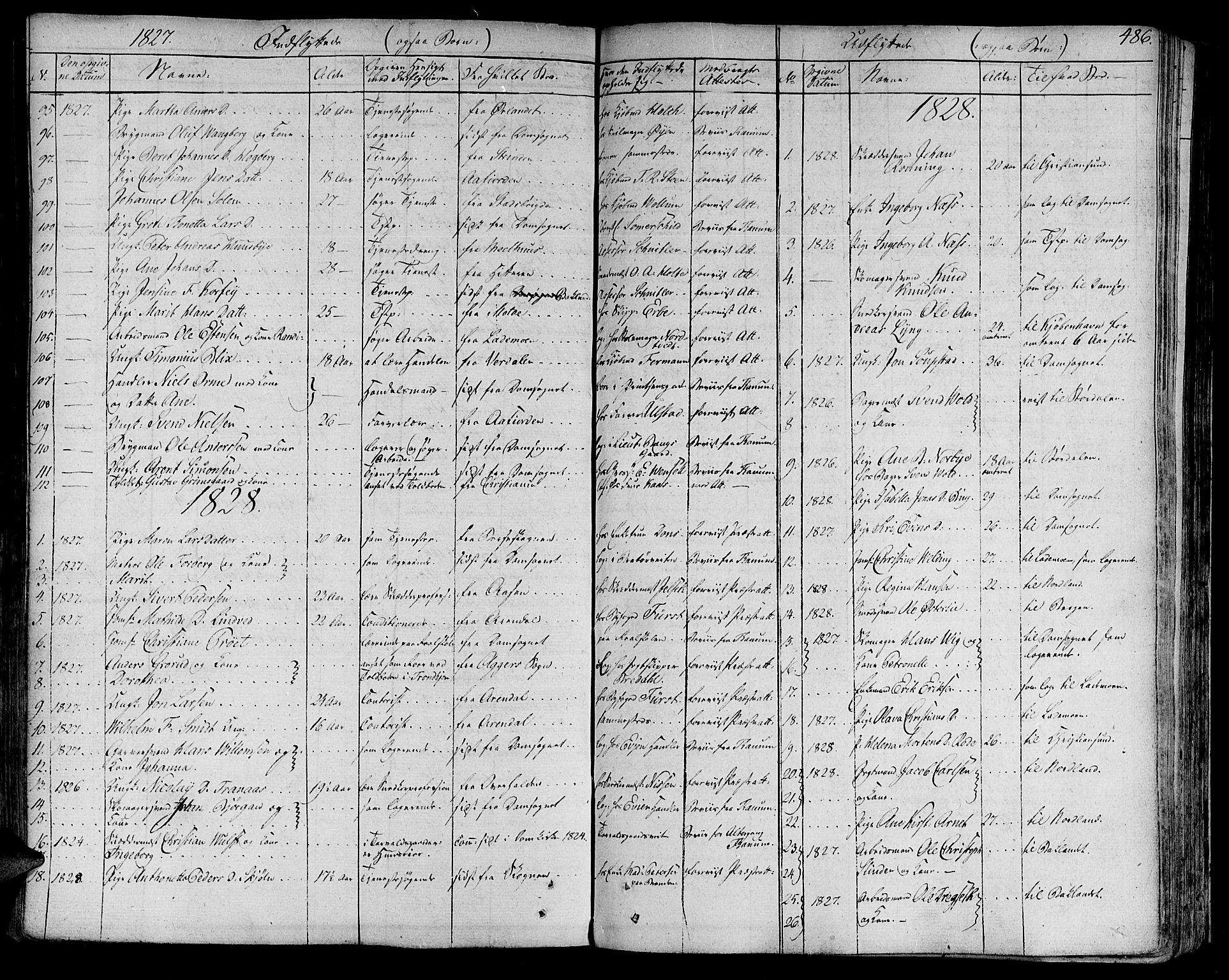 SAT, Ministerialprotokoller, klokkerbøker og fødselsregistre - Sør-Trøndelag, 602/L0109: Ministerialbok nr. 602A07, 1821-1840, s. 486