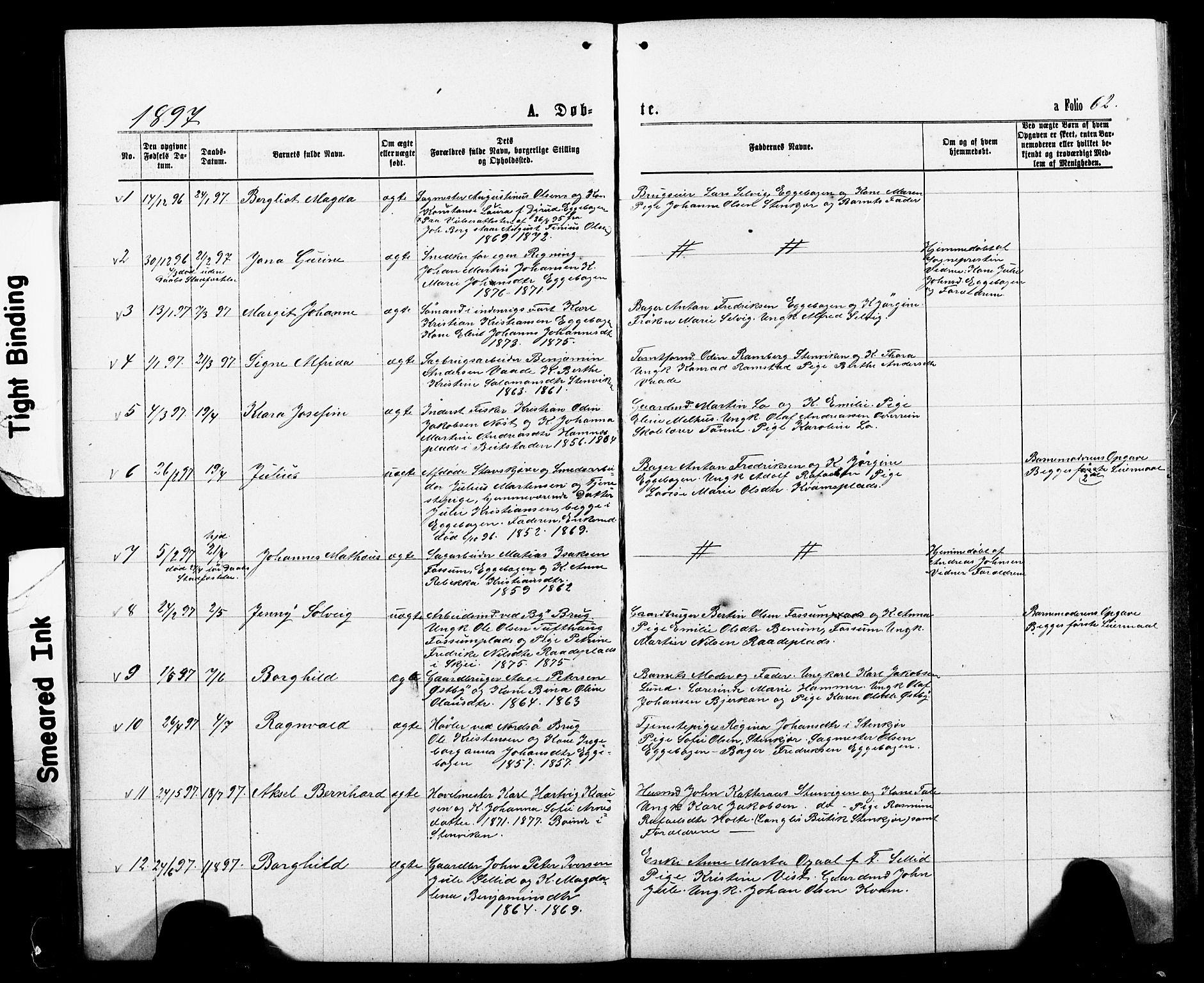 SAT, Ministerialprotokoller, klokkerbøker og fødselsregistre - Nord-Trøndelag, 740/L0380: Klokkerbok nr. 740C01, 1868-1902, s. 62