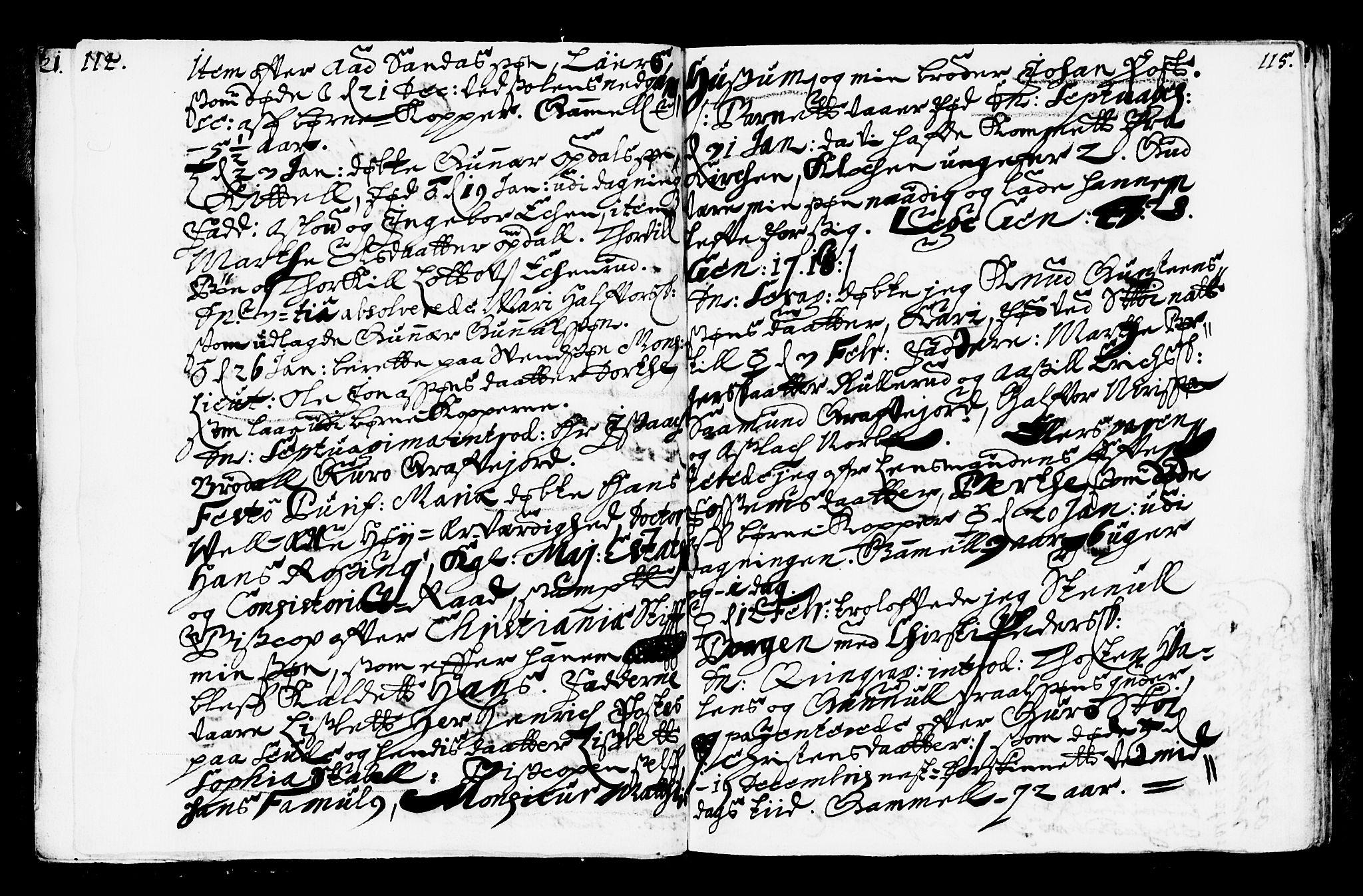 SAKO, Bø kirkebøker, F/Fa/L0001: Ministerialbok nr. 1, 1689-1699, s. 114-115