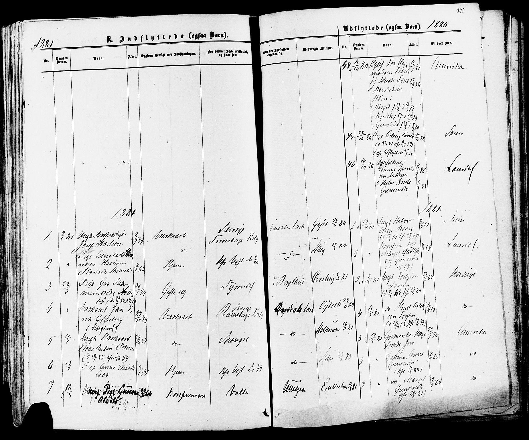 SAKO, Mo kirkebøker, F/Fa/L0006: Ministerialbok nr. I 6, 1865-1885, s. 345