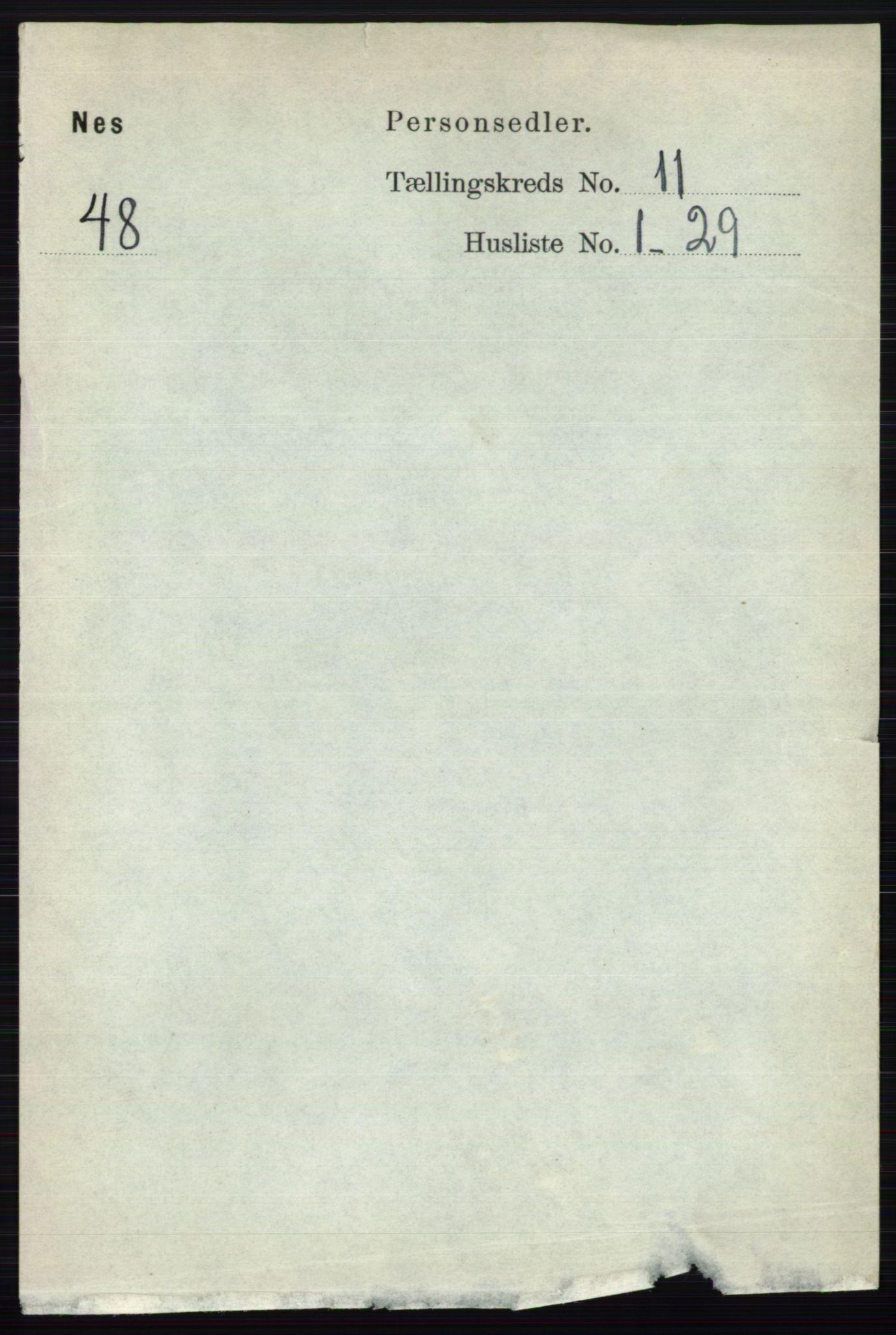 RA, Folketelling 1891 for 0236 Nes herred, 1891, s. 6350