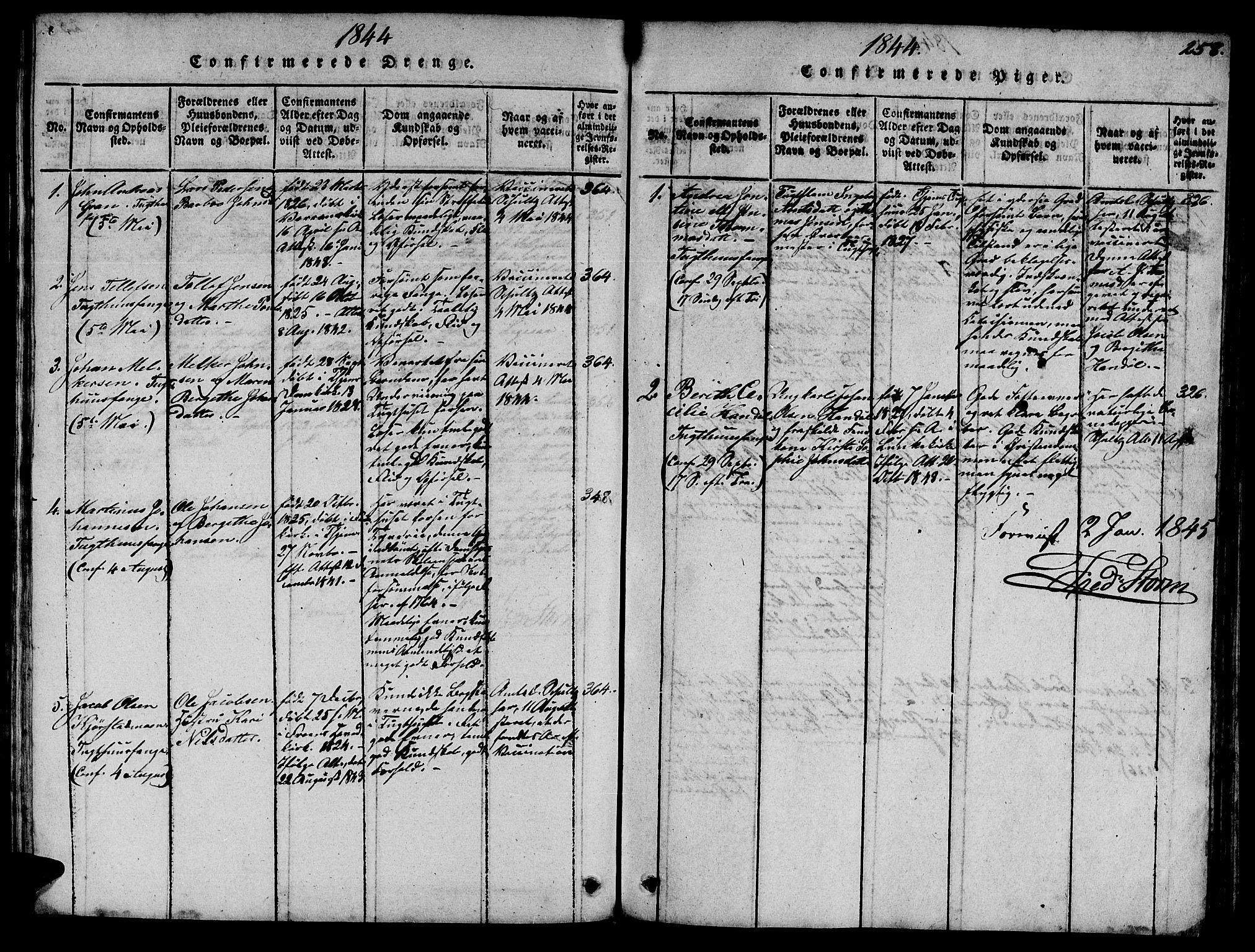 SAT, Ministerialprotokoller, klokkerbøker og fødselsregistre - Sør-Trøndelag, 623/L0478: Klokkerbok nr. 623C01, 1815-1873, s. 258