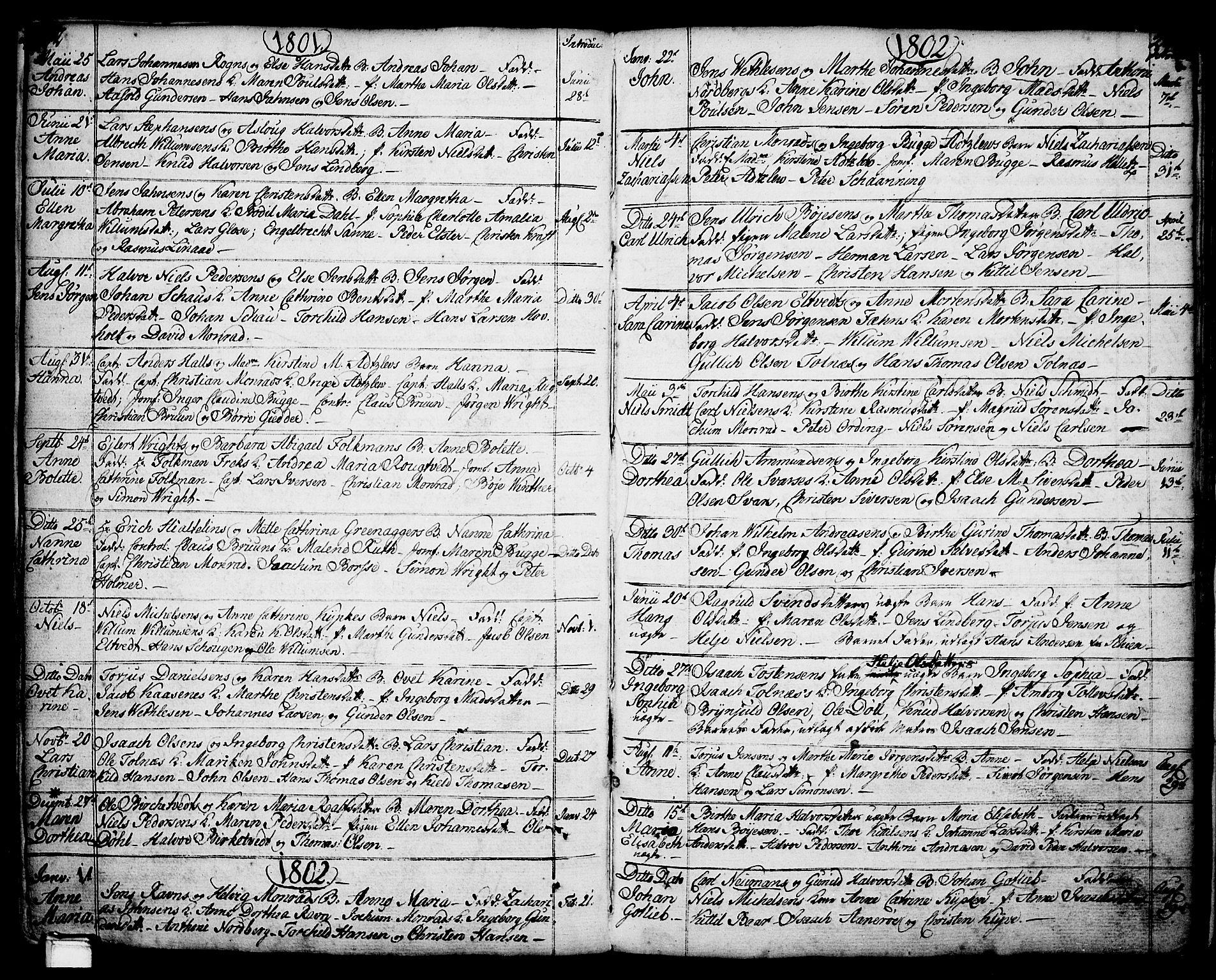 SAKO, Porsgrunn kirkebøker , F/Fa/L0001: Ministerialbok nr. 1, 1764-1814, s. 222-223