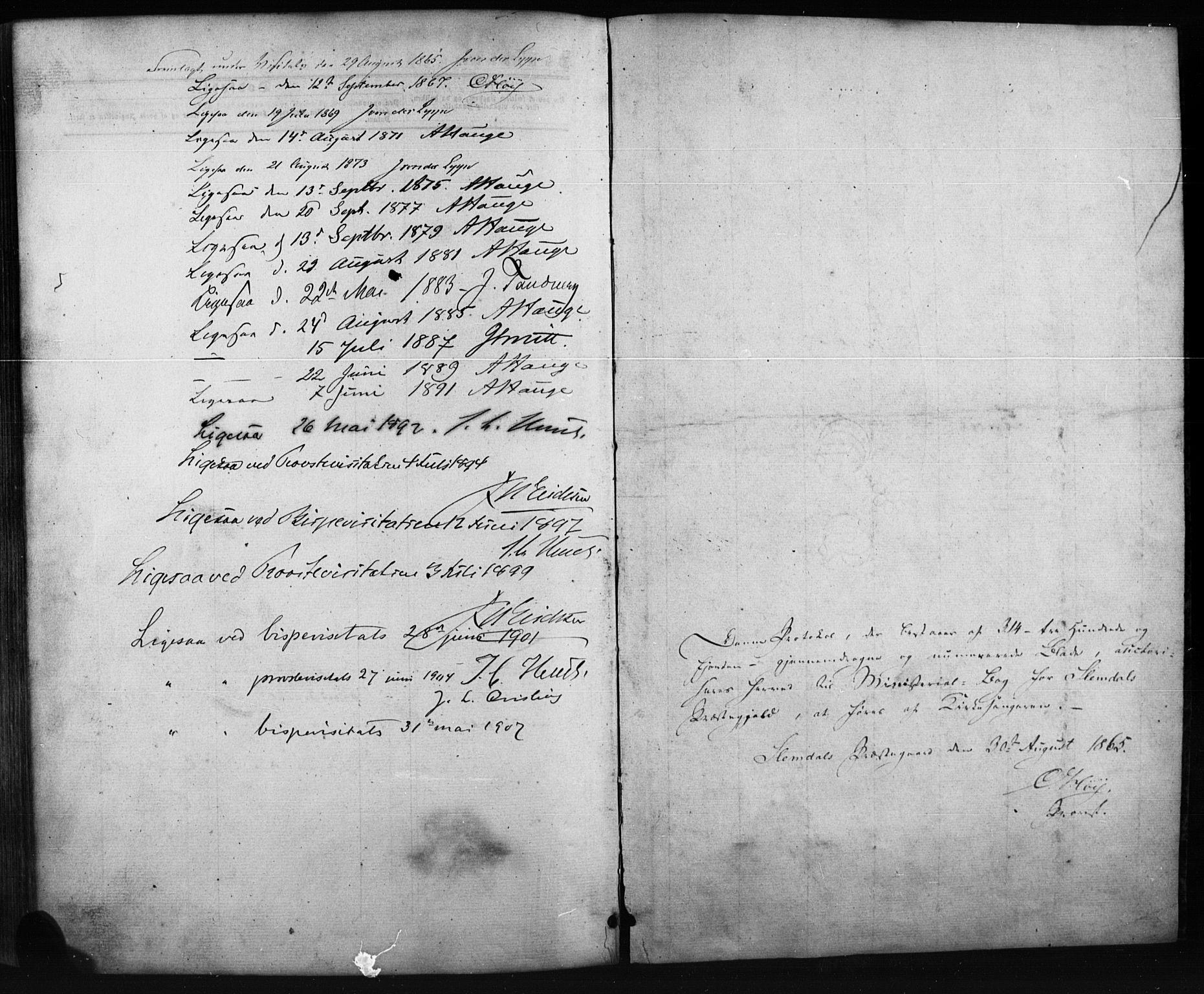SAKO, Siljan kirkebøker, G/Ga/L0002: Klokkerbok nr. 2, 1864-1908