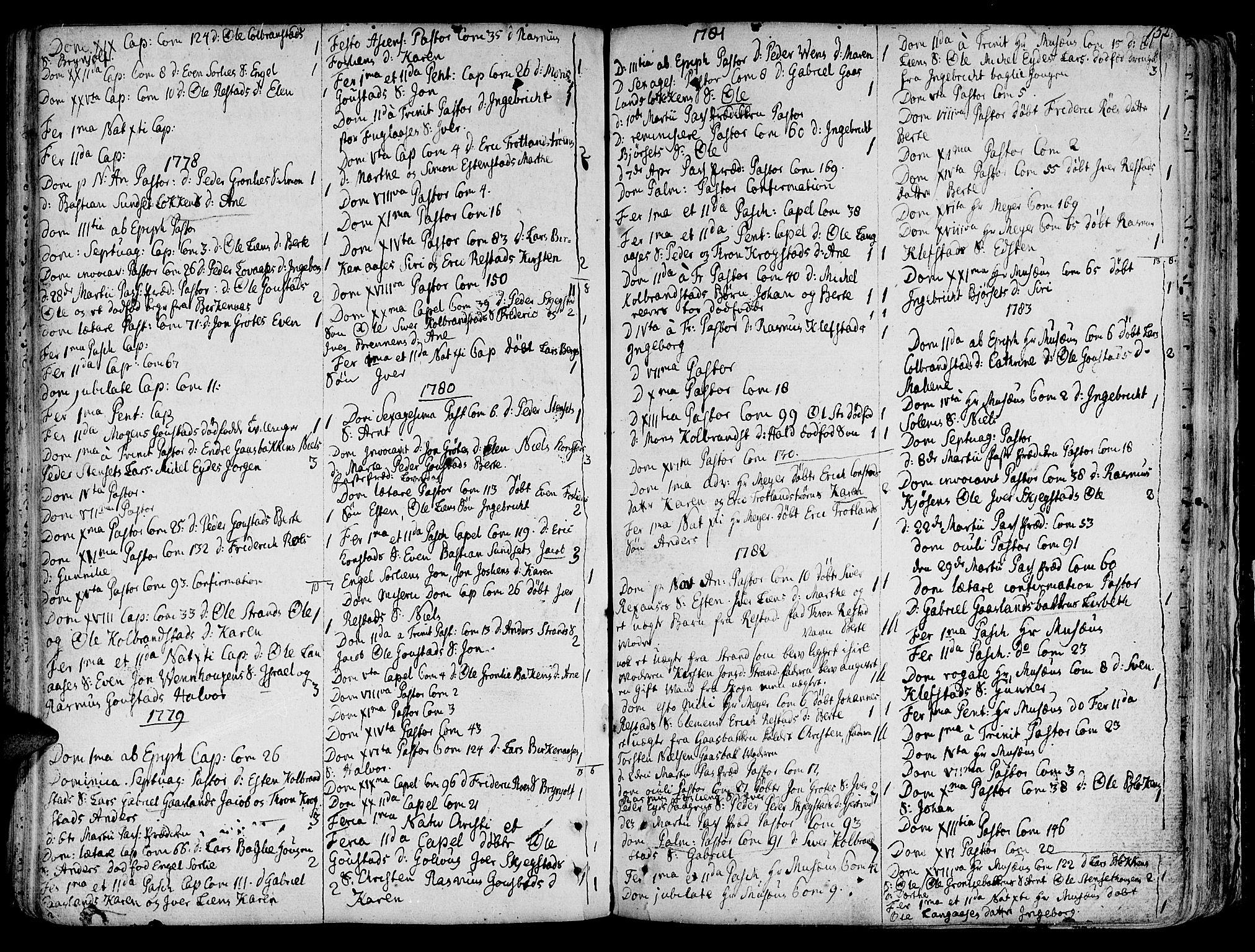 SAT, Ministerialprotokoller, klokkerbøker og fødselsregistre - Sør-Trøndelag, 691/L1064: Ministerialbok nr. 691A02 /4, 1768-1815, s. 152
