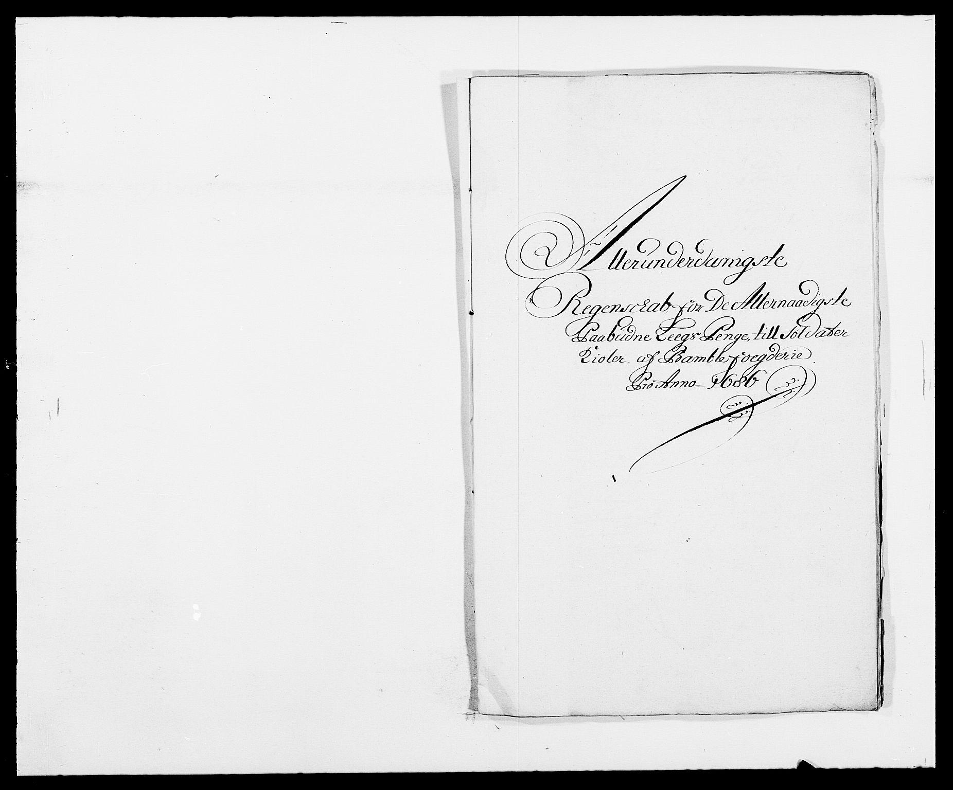 RA, Rentekammeret inntil 1814, Reviderte regnskaper, Fogderegnskap, R34/L2049: Fogderegnskap Bamble, 1685-1687, s. 83