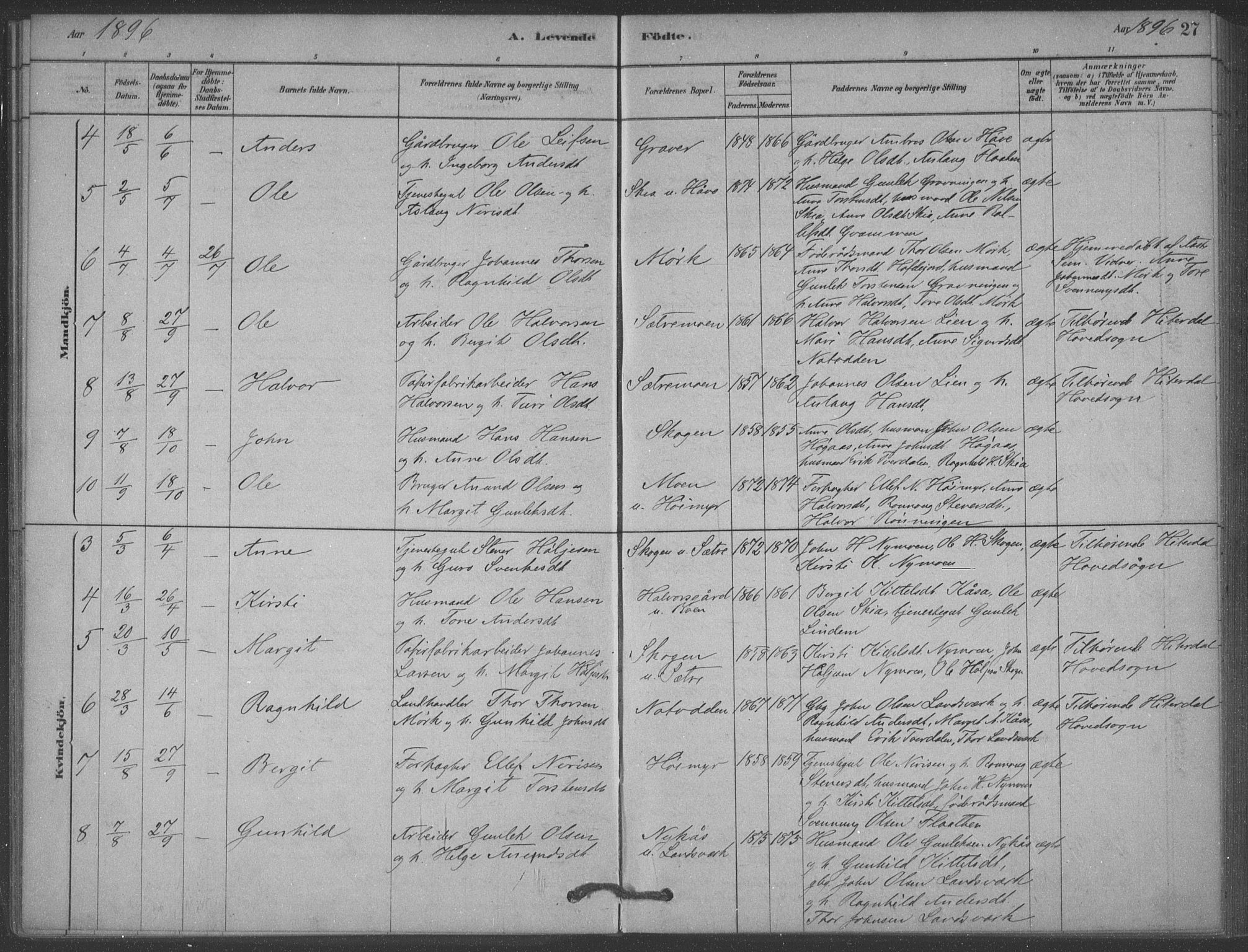 SAKO, Heddal kirkebøker, F/Fb/L0002: Ministerialbok nr. II 2, 1878-1913, s. 27