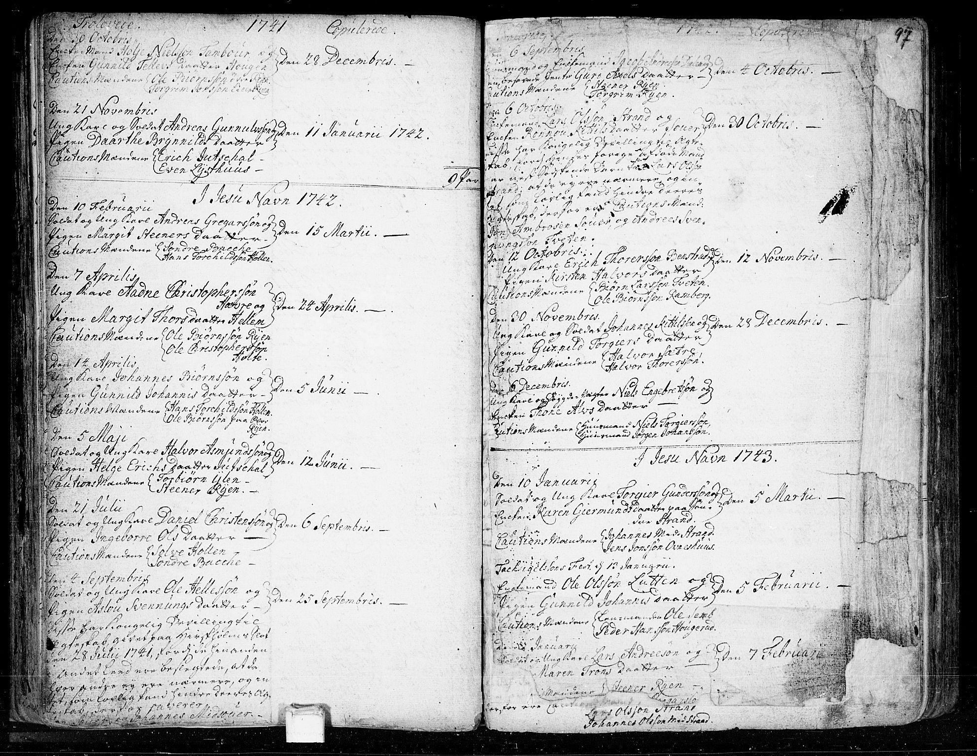 SAKO, Heddal kirkebøker, F/Fa/L0003: Ministerialbok nr. I 3, 1723-1783, s. 97