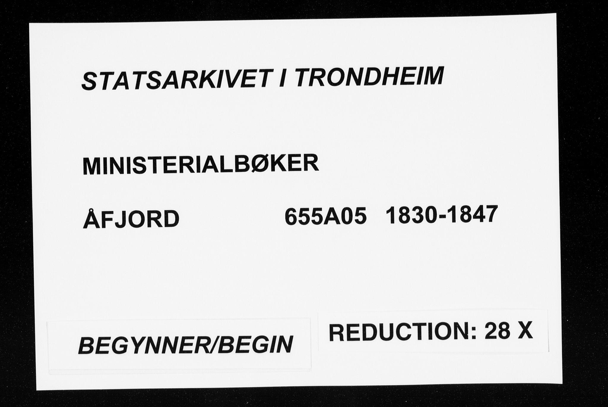 SAT, Ministerialprotokoller, klokkerbøker og fødselsregistre - Sør-Trøndelag, 655/L0676: Ministerialbok nr. 655A05, 1830-1847