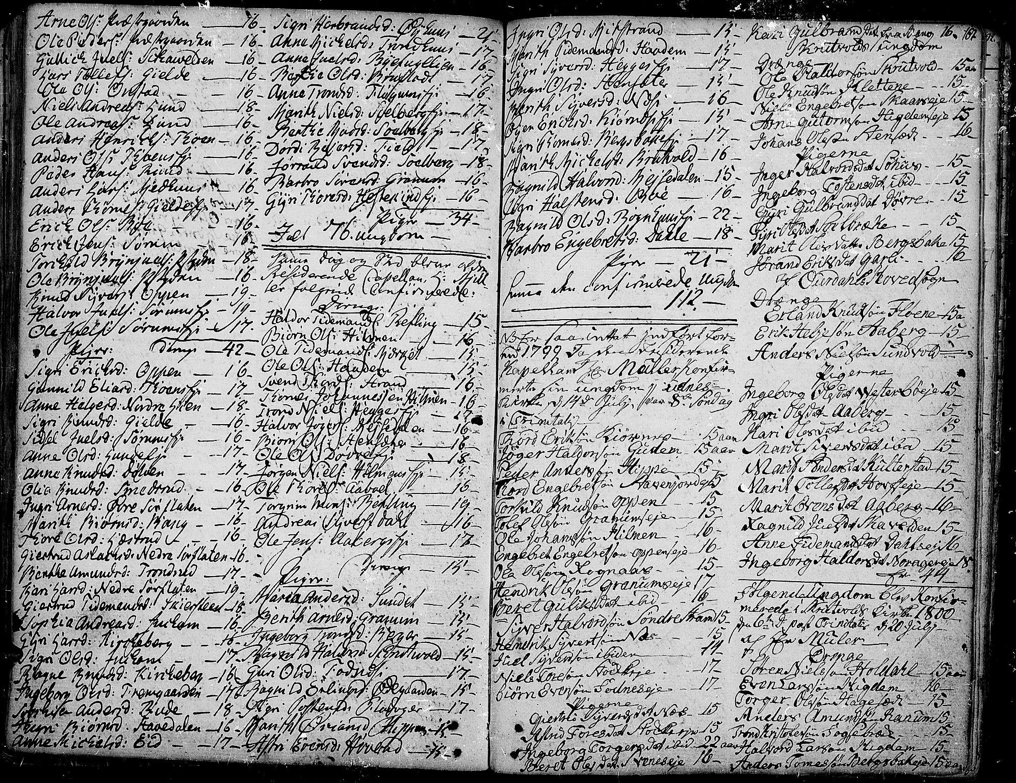 SAH, Aurdal prestekontor, Ministerialbok nr. 6, 1781-1804, s. 167