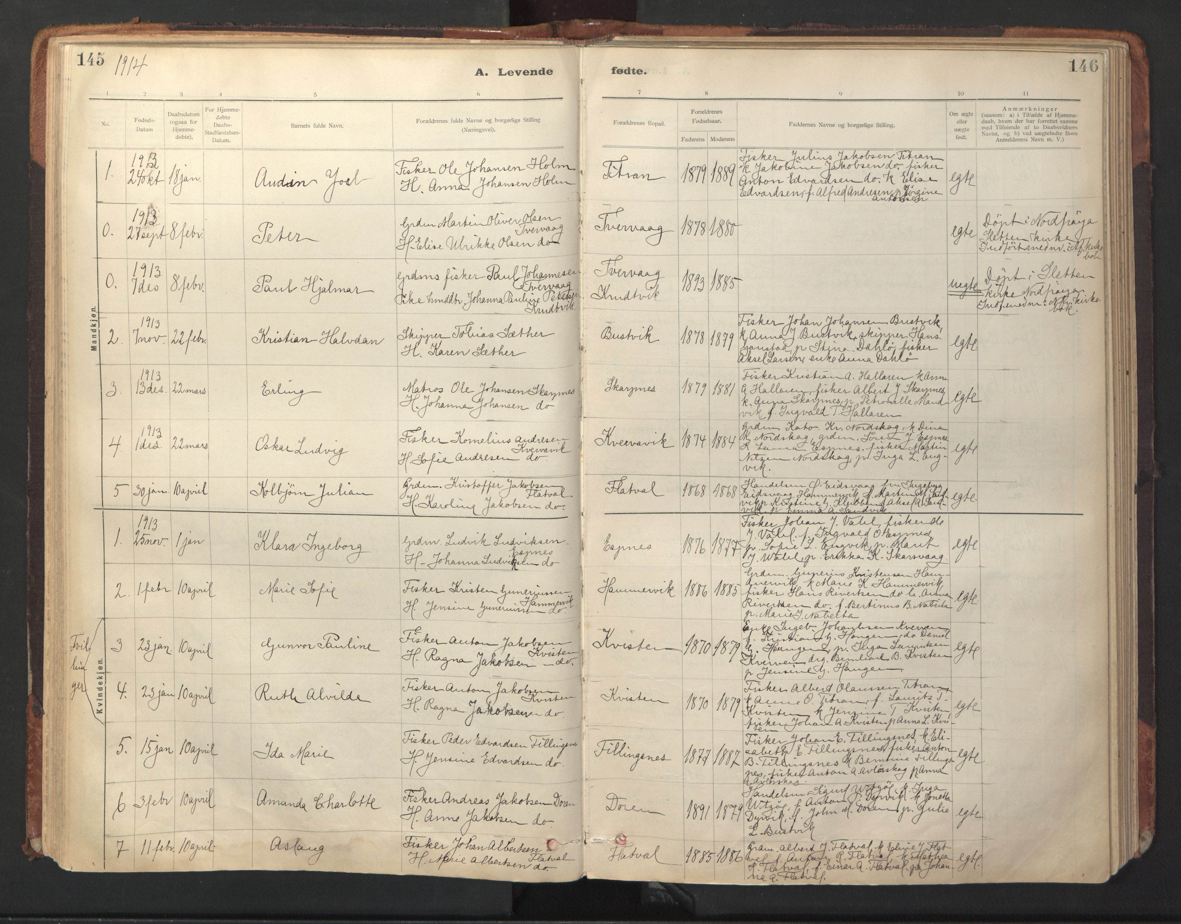 SAT, Ministerialprotokoller, klokkerbøker og fødselsregistre - Sør-Trøndelag, 641/L0596: Ministerialbok nr. 641A02, 1898-1915, s. 145-146