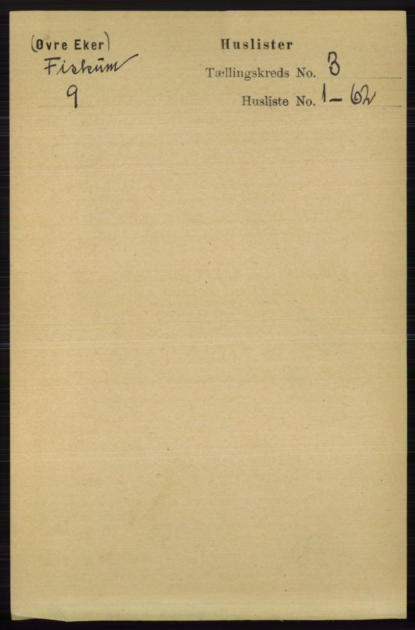 RA, Folketelling 1891 for 0624 Øvre Eiker herred, 1891, s. 9001