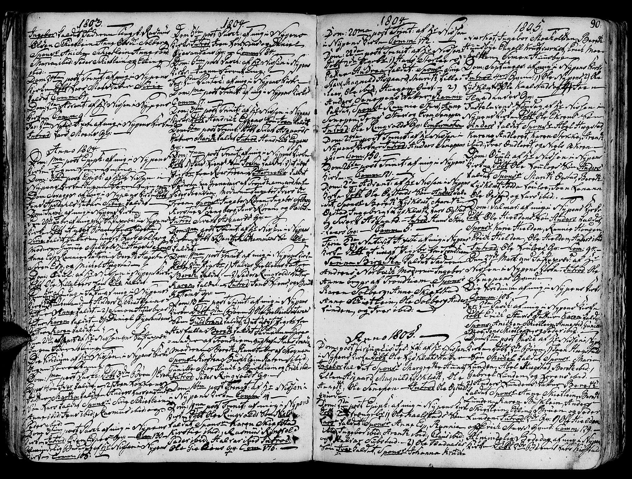 SAT, Ministerialprotokoller, klokkerbøker og fødselsregistre - Sør-Trøndelag, 691/L1063: Ministerialbok nr. 691A02 /3, 1768-1815, s. 90