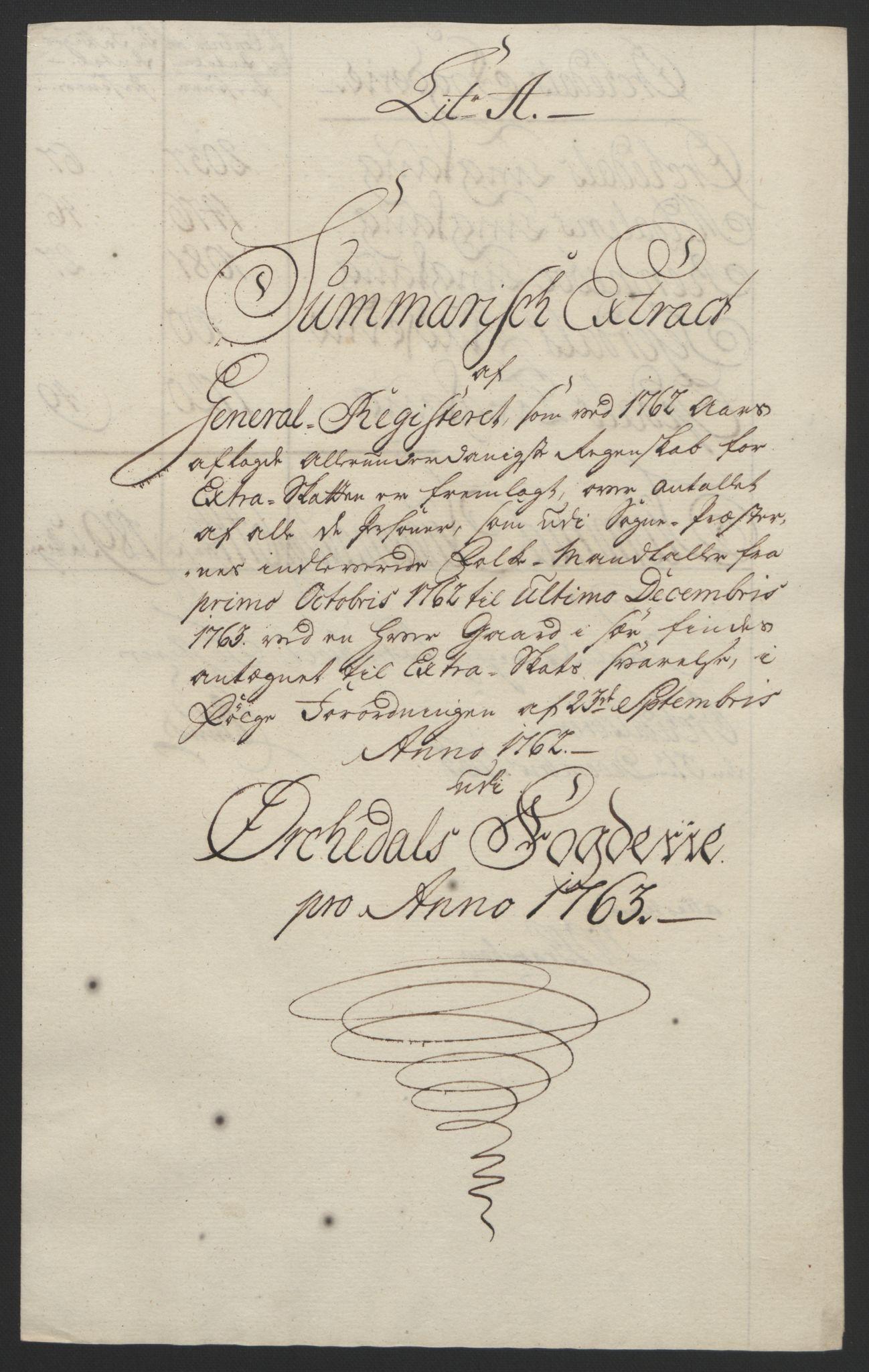 RA, Rentekammeret inntil 1814, Reviderte regnskaper, Fogderegnskap, R60/L4094: Ekstraskatten Orkdal og Gauldal, 1762-1765, s. 90