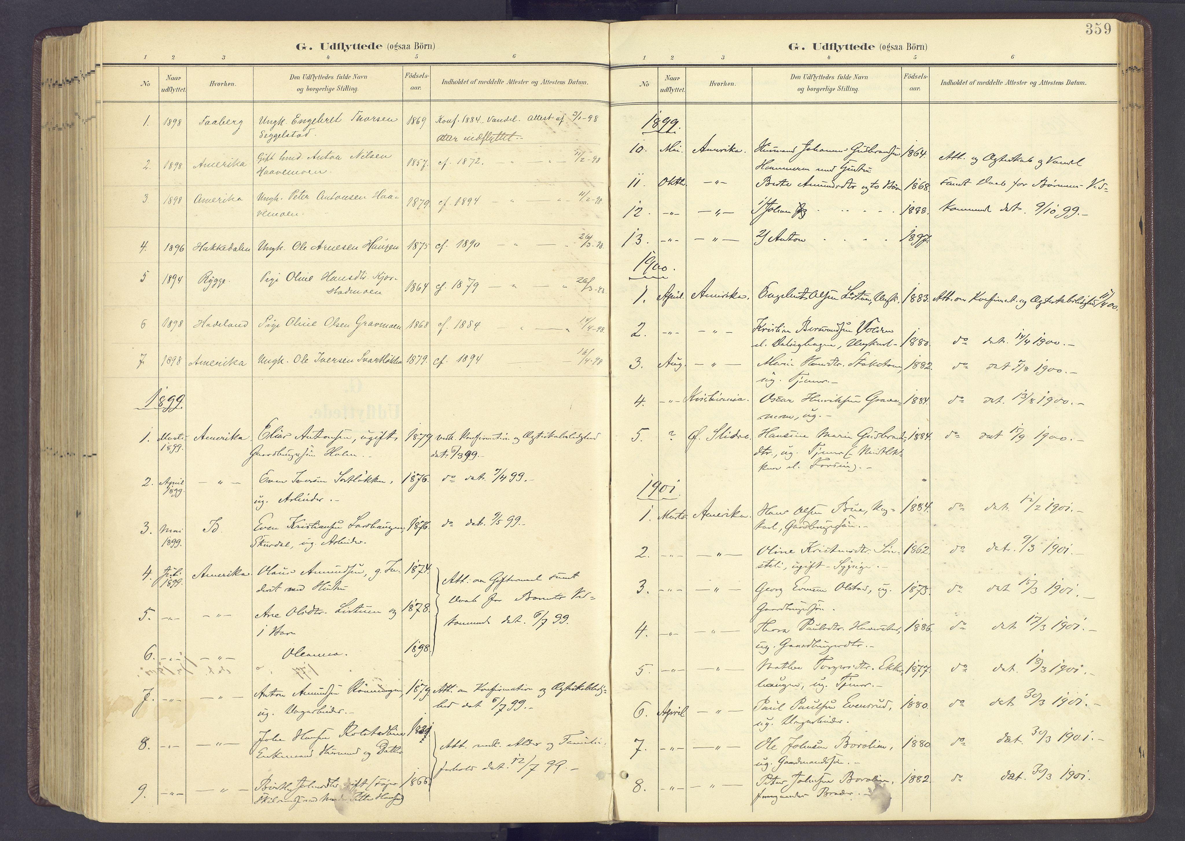 SAH, Sør-Fron prestekontor, H/Ha/Haa/L0004: Ministerialbok nr. 4, 1898-1919, s. 359