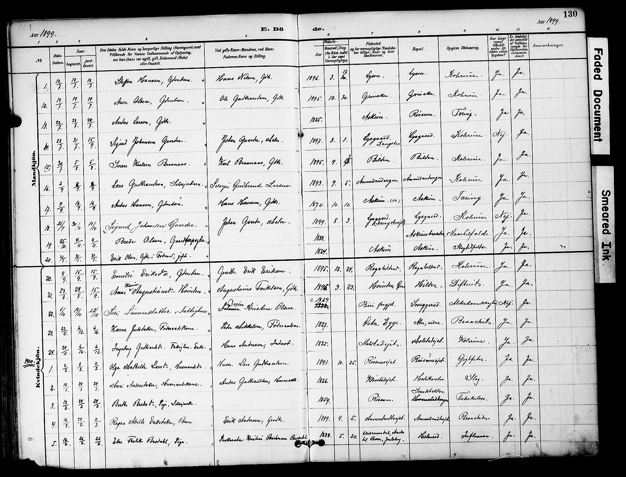 SAH, Brandbu prestekontor, Klokkerbok nr. 6, 1893-1902, s. 130