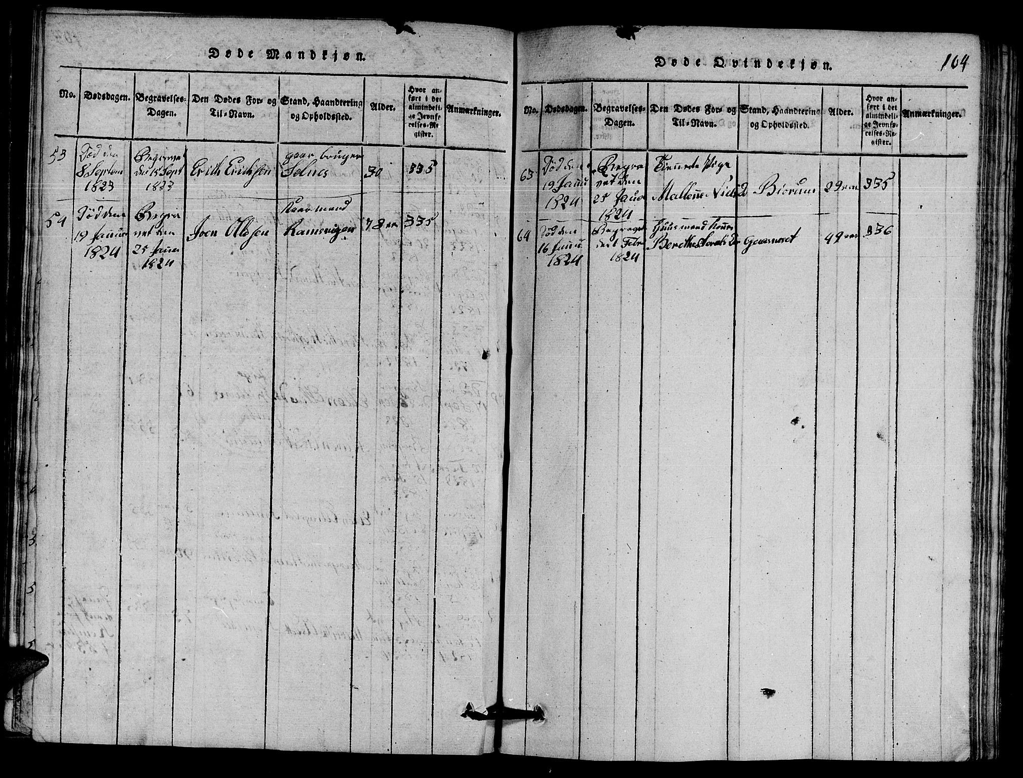 SAT, Ministerialprotokoller, klokkerbøker og fødselsregistre - Nord-Trøndelag, 770/L0590: Klokkerbok nr. 770C01, 1815-1824, s. 104