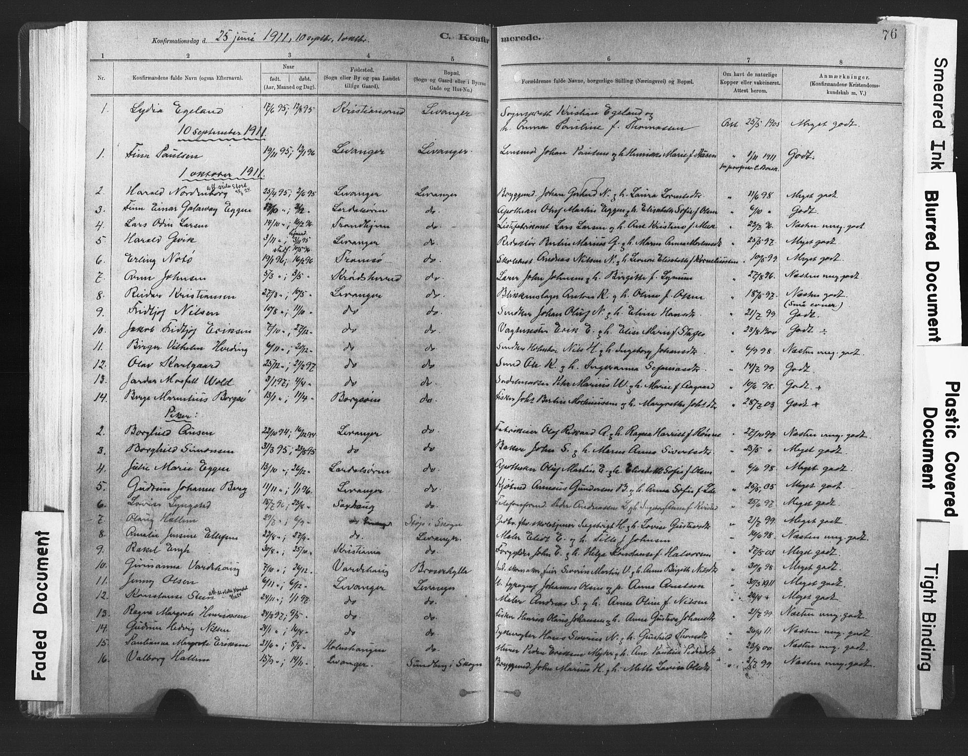 SAT, Ministerialprotokoller, klokkerbøker og fødselsregistre - Nord-Trøndelag, 720/L0189: Ministerialbok nr. 720A05, 1880-1911, s. 76
