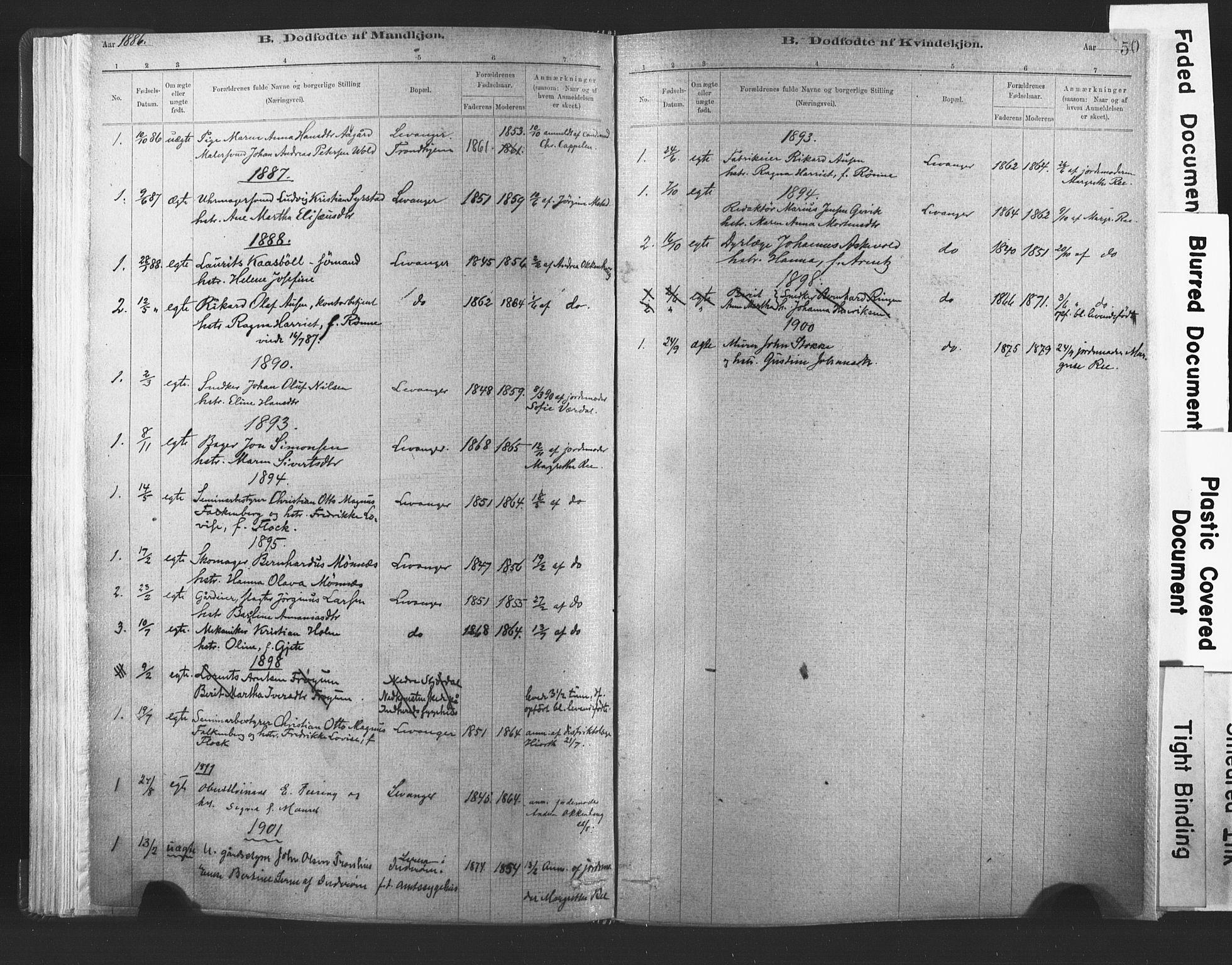 SAT, Ministerialprotokoller, klokkerbøker og fødselsregistre - Nord-Trøndelag, 720/L0189: Ministerialbok nr. 720A05, 1880-1911, s. 50