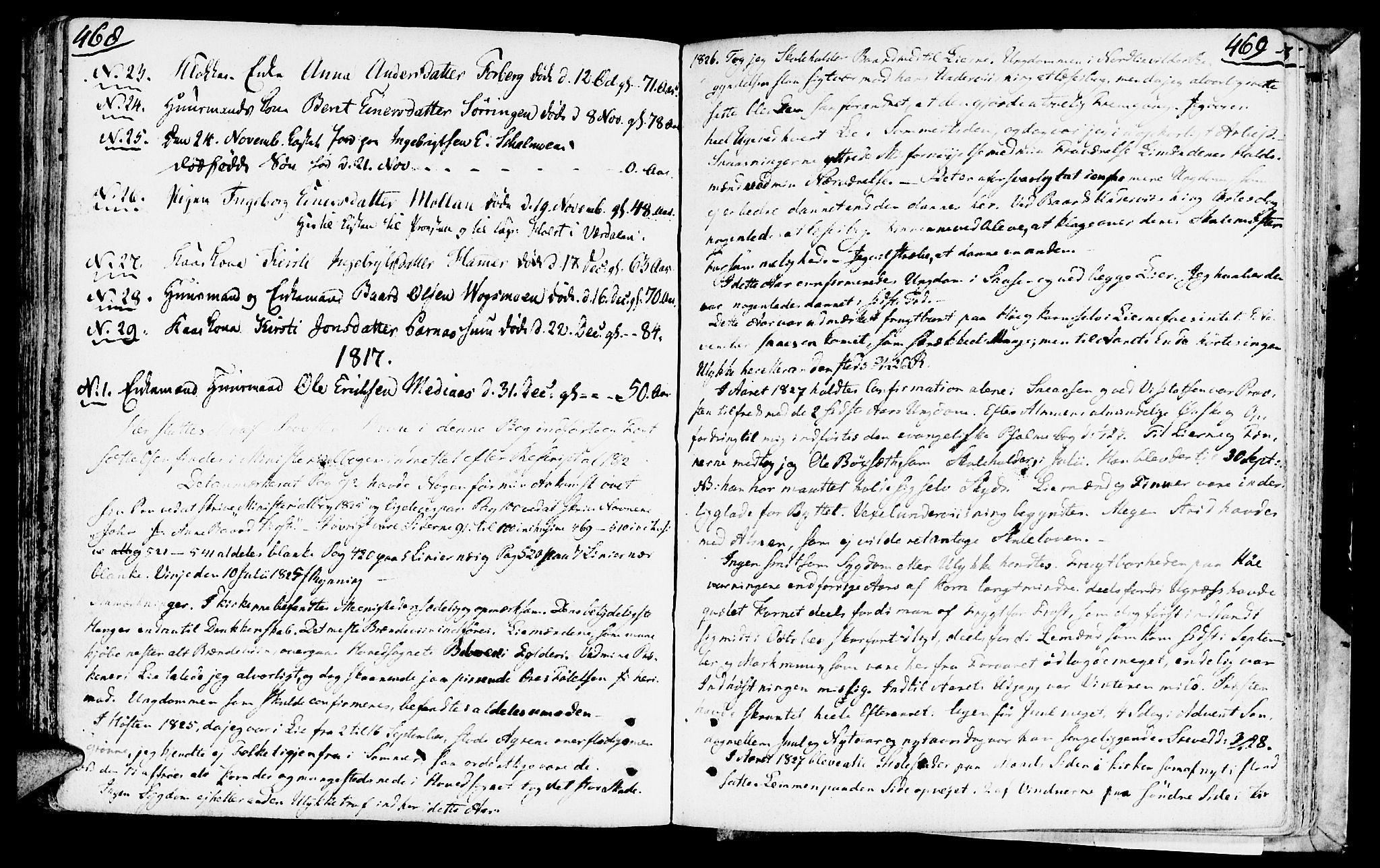SAT, Ministerialprotokoller, klokkerbøker og fødselsregistre - Nord-Trøndelag, 749/L0468: Ministerialbok nr. 749A02, 1787-1817, s. 468-469