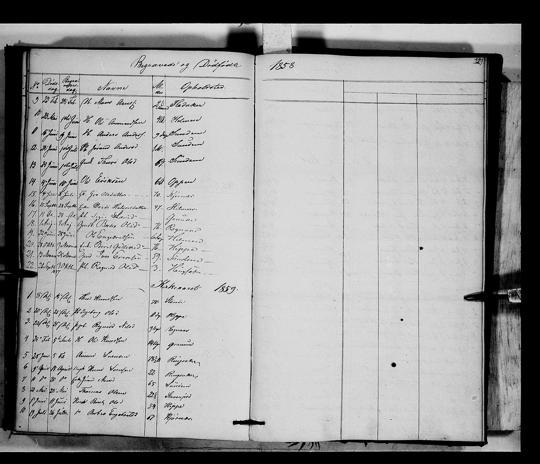 SAH, Nord-Aurdal prestekontor, Ministerialbok nr. 6, 1842-1863, s. 229