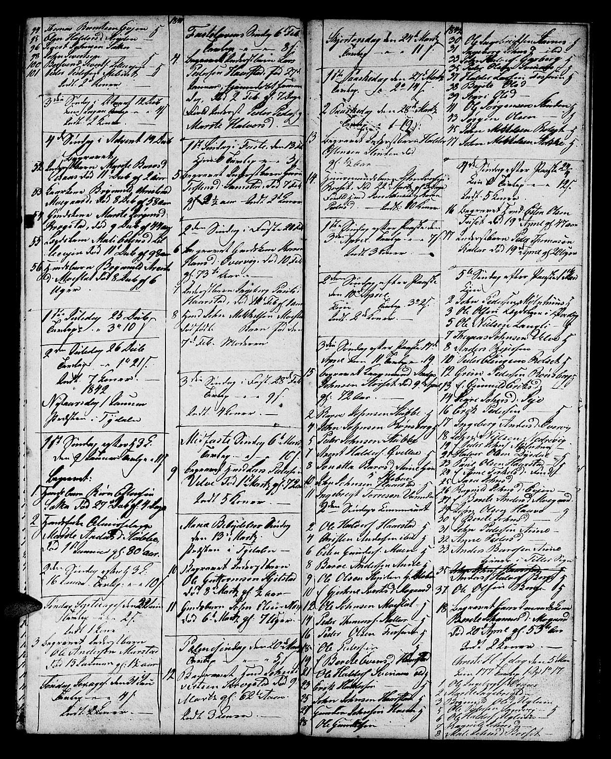 SAT, Ministerialprotokoller, klokkerbøker og fødselsregistre - Sør-Trøndelag, 695/L1153: Klokkerbok nr. 695C04, 1832-1842