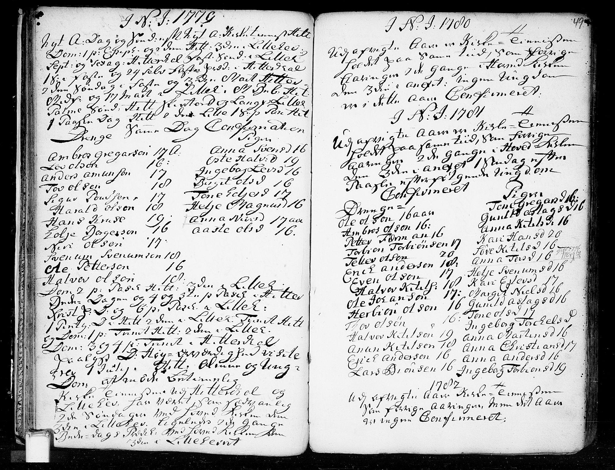 SAKO, Heddal kirkebøker, F/Fa/L0003: Ministerialbok nr. I 3, 1723-1783, s. 49