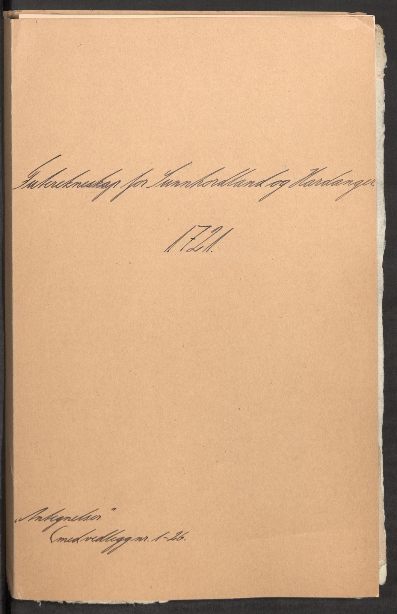 RA, Rentekammeret inntil 1814, Reviderte regnskaper, Fogderegnskap, R48/L3000: Fogderegnskap Sunnhordland og Hardanger, 1721, s. 442