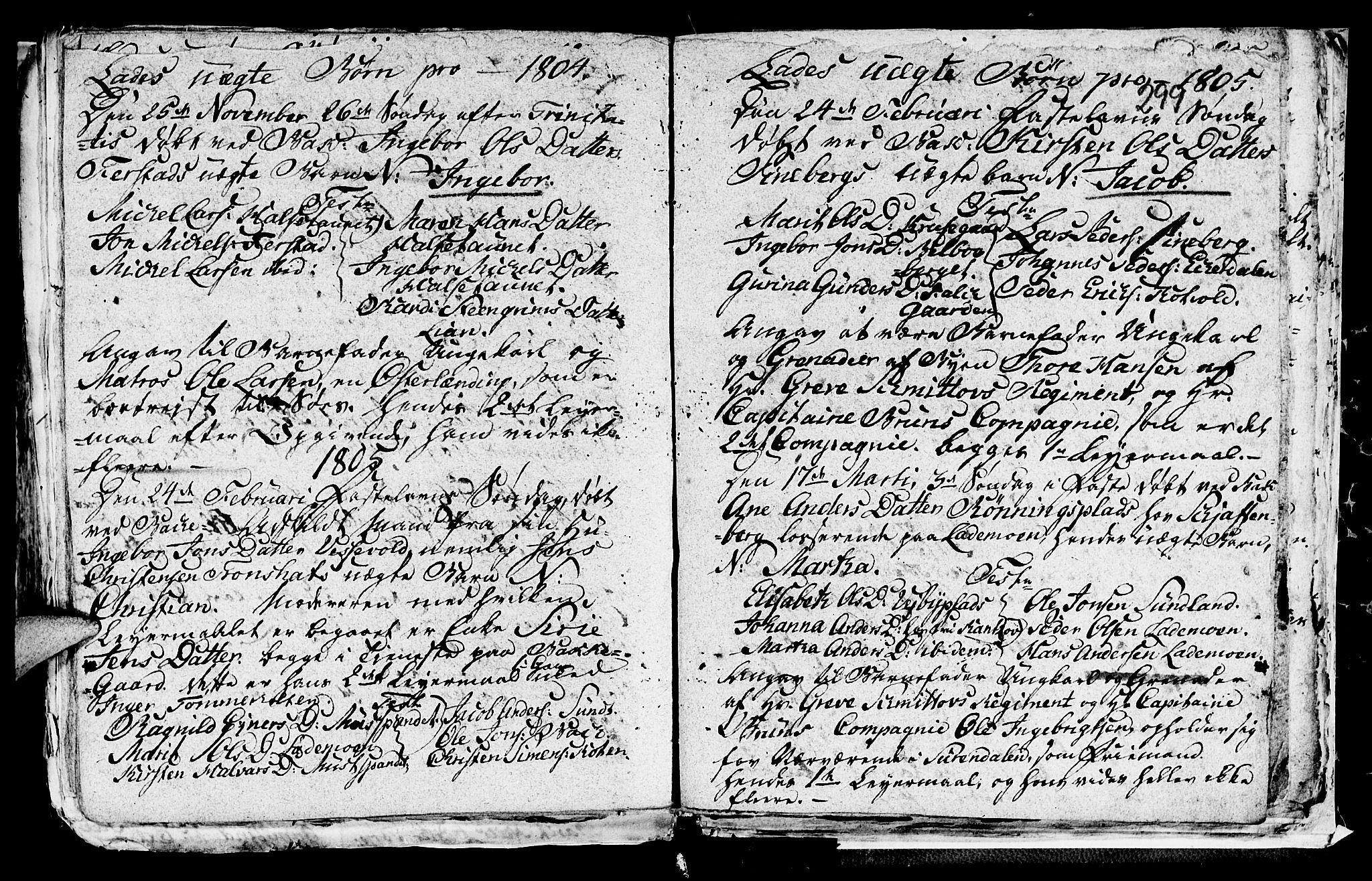 SAT, Ministerialprotokoller, klokkerbøker og fødselsregistre - Sør-Trøndelag, 606/L0305: Klokkerbok nr. 606C01, 1757-1819, s. 299