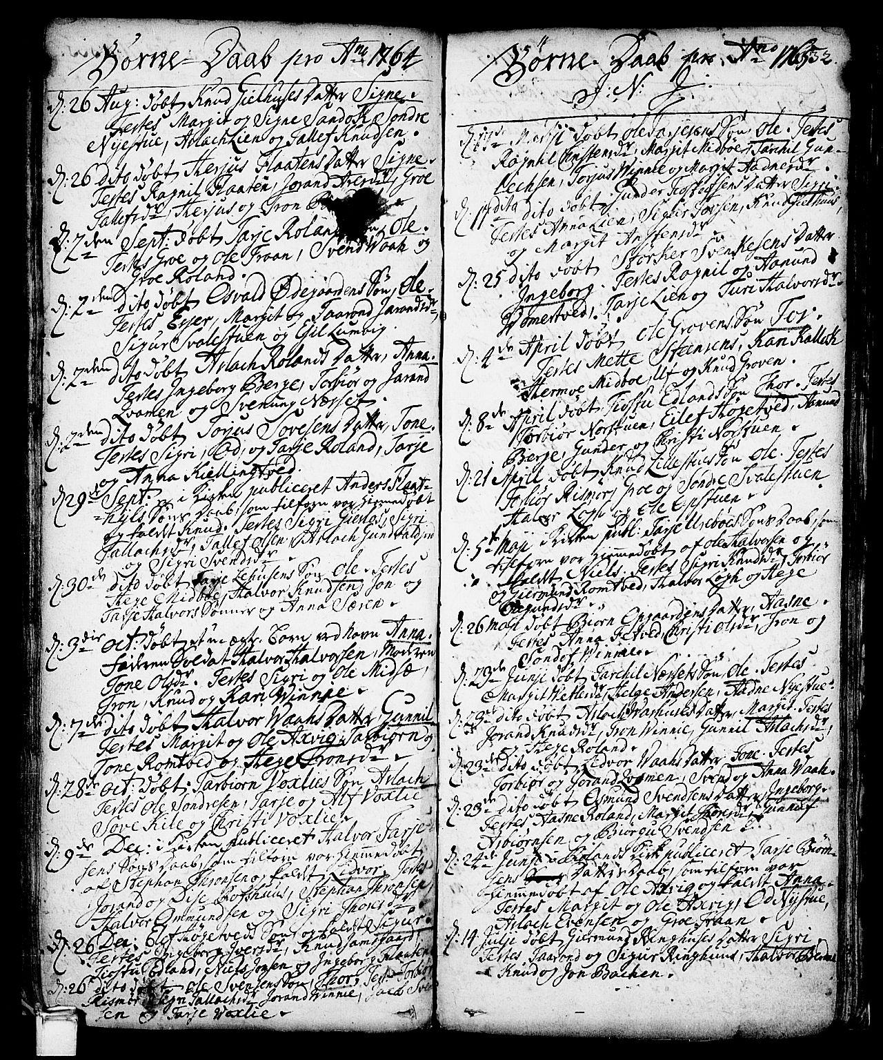 SAKO, Vinje kirkebøker, F/Fa/L0001: Ministerialbok nr. I 1, 1717-1766, s. 132