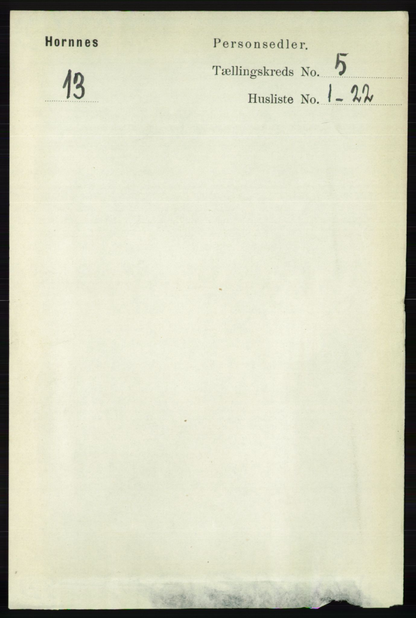 RA, Folketelling 1891 for 0936 Hornnes herred, 1891, s. 1347