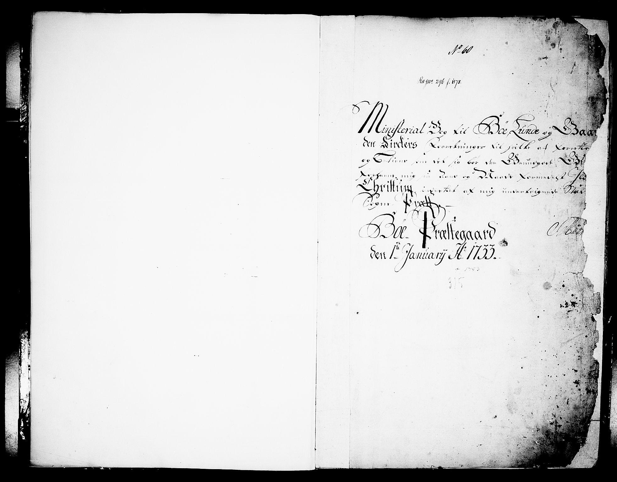 SAKO, Bø kirkebøker, F/Fa/L0003: Ministerialbok nr. 3, 1733-1748