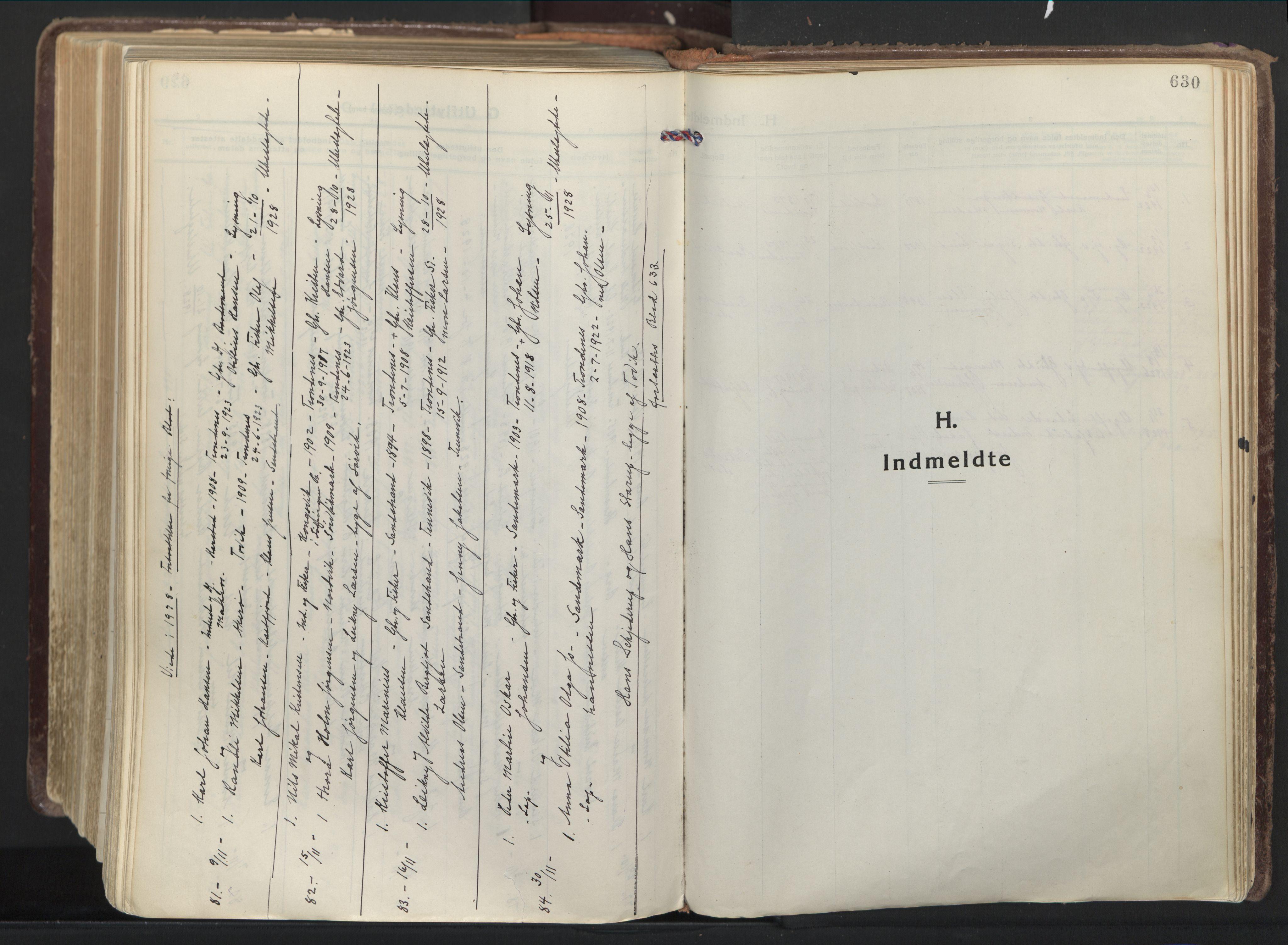 SATØ, Trondenes sokneprestkontor, H/Ha/L0019kirke: Ministerialbok nr. 19, 1919-1928, s. 630