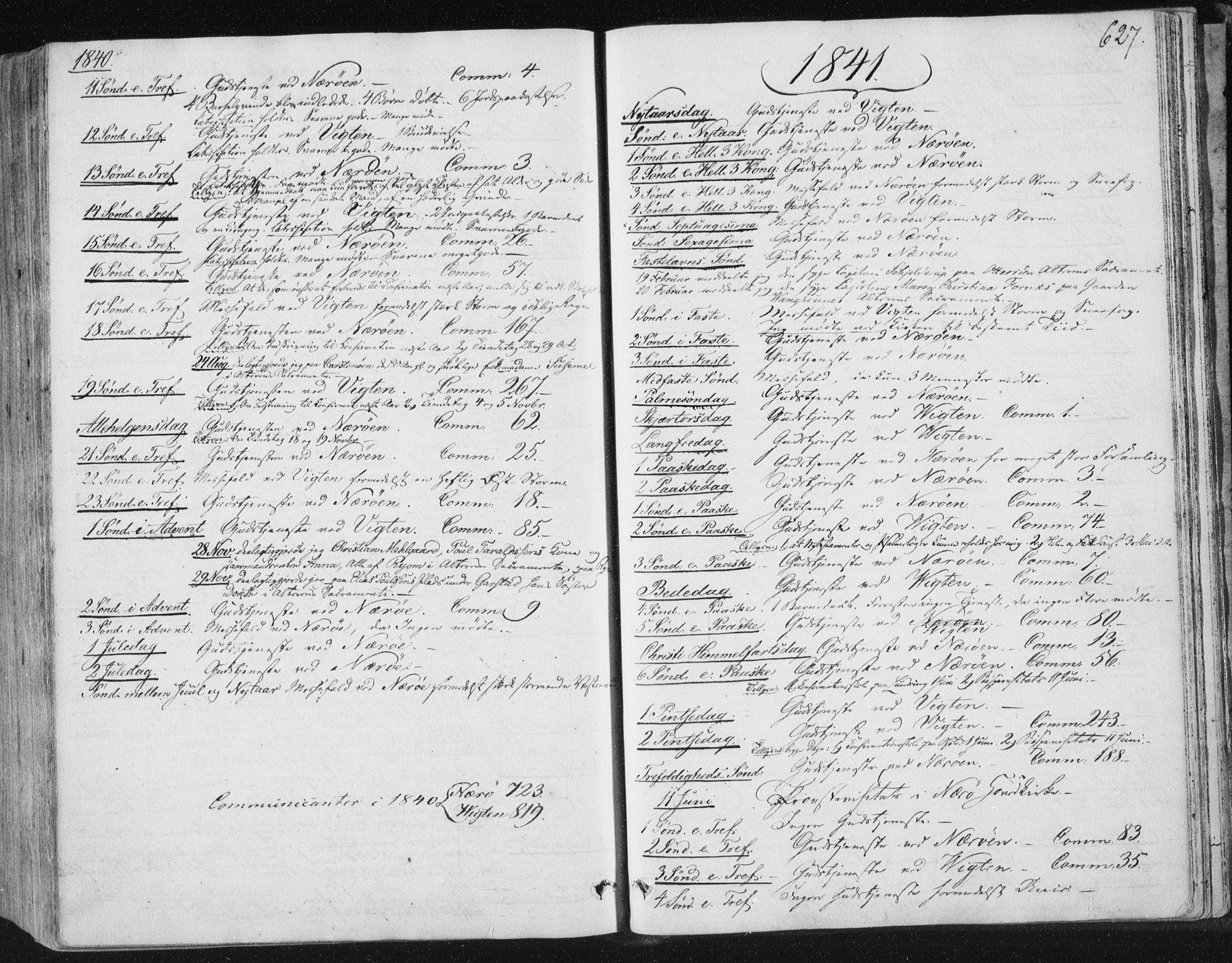 SAT, Ministerialprotokoller, klokkerbøker og fødselsregistre - Nord-Trøndelag, 784/L0669: Ministerialbok nr. 784A04, 1829-1859, s. 627