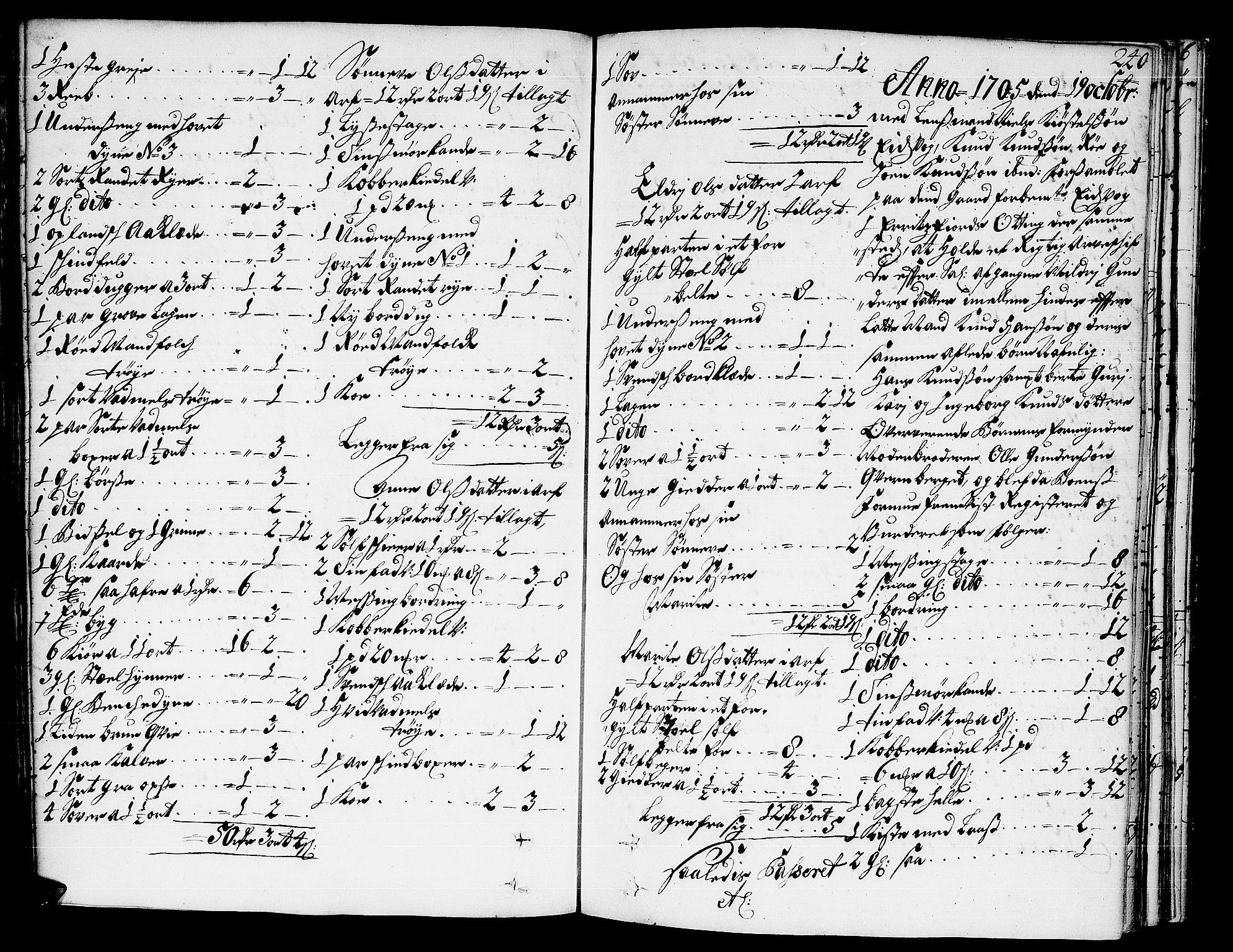 SAT, Romsdal sorenskriveri, 3/3A/L0004: Skifteprotokoll, 1702-1706, s. 239b-240a