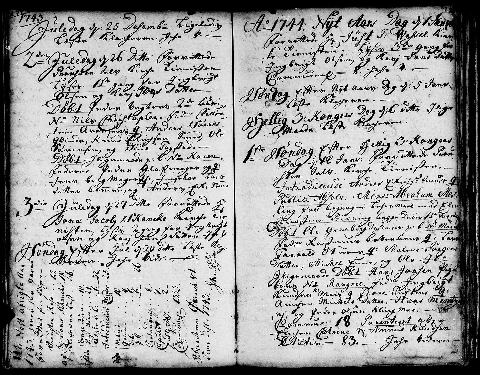 SAT, Ministerialprotokoller, klokkerbøker og fødselsregistre - Sør-Trøndelag, 671/L0839: Ministerialbok nr. 671A01, 1730-1755, s. 272-273