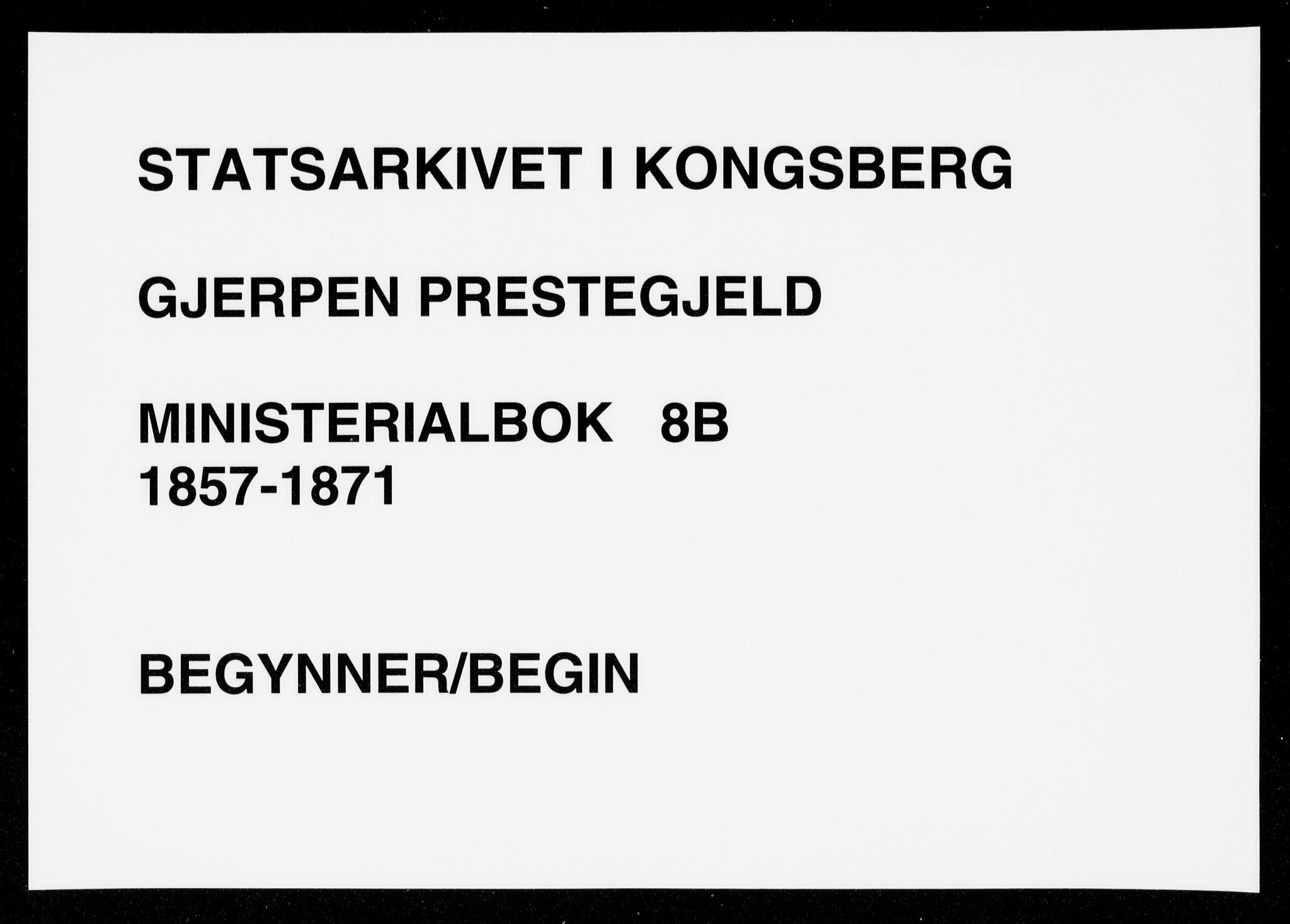 SAKO, Gjerpen kirkebøker, F/Fa/L0008b: Ministerialbok nr. 8B, 1857-1871
