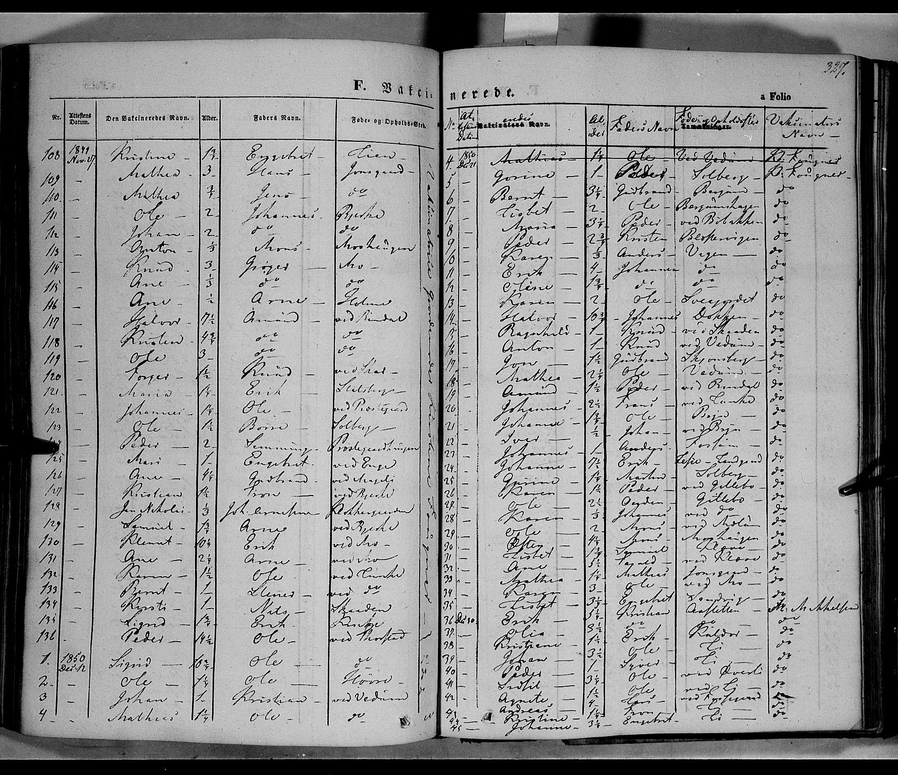 SAH, Øyer prestekontor, Ministerialbok nr. 5, 1842-1857, s. 327