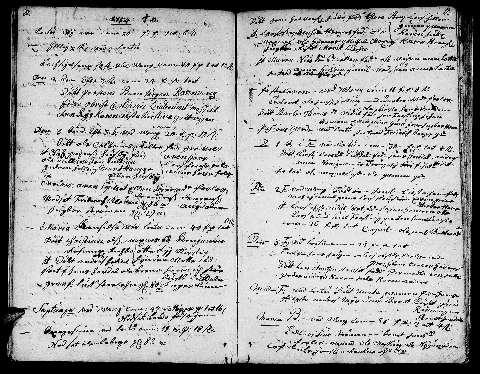 SAT, Ministerialprotokoller, klokkerbøker og fødselsregistre - Nord-Trøndelag, 713/L0109: Ministerialbok nr. 713A01, 1750-1778, s. 22-23