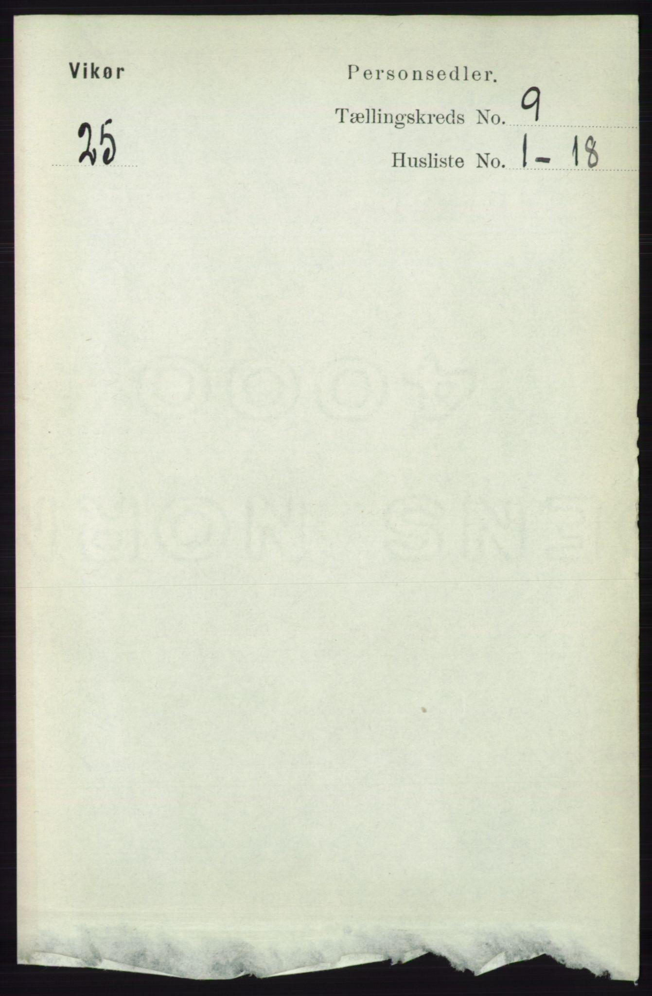 RA, Folketelling 1891 for 1238 Vikør herred, 1891, s. 2658