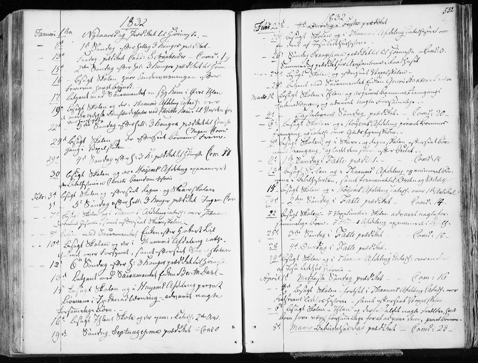 SAT, Ministerialprotokoller, klokkerbøker og fødselsregistre - Sør-Trøndelag, 601/L0047: Ministerialbok nr. 601A15, 1831-1839, s. 552