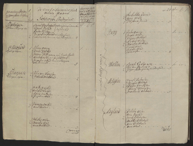 RA, Rentekammeret inntil 1814, Reviderte regnskaper, Fogderegnskap, R68/L4845: Ekstraskatten Senja og Troms, 1762-1765, s. 351